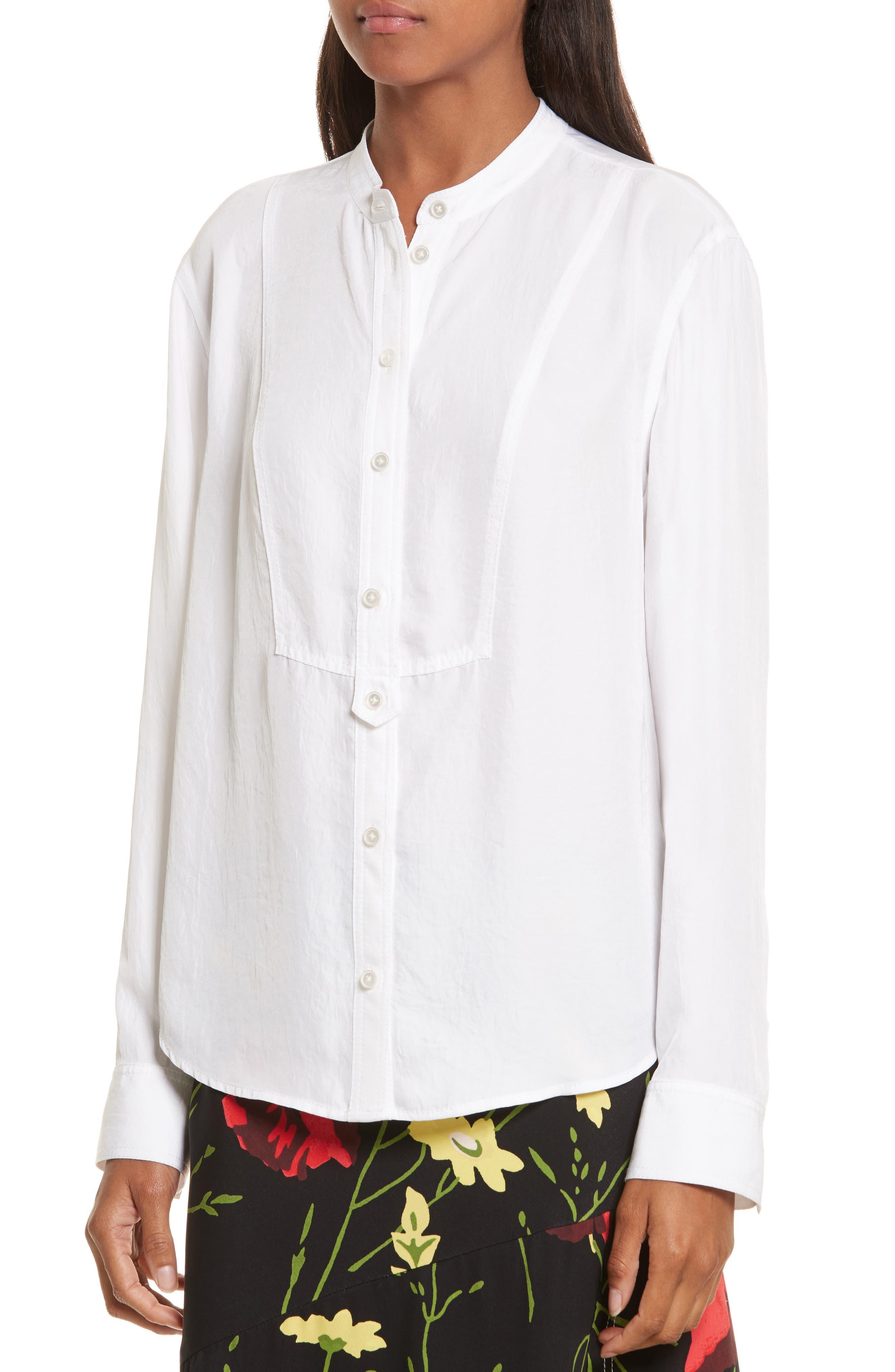 Twill Shirt,                             Alternate thumbnail 4, color,                             Star White