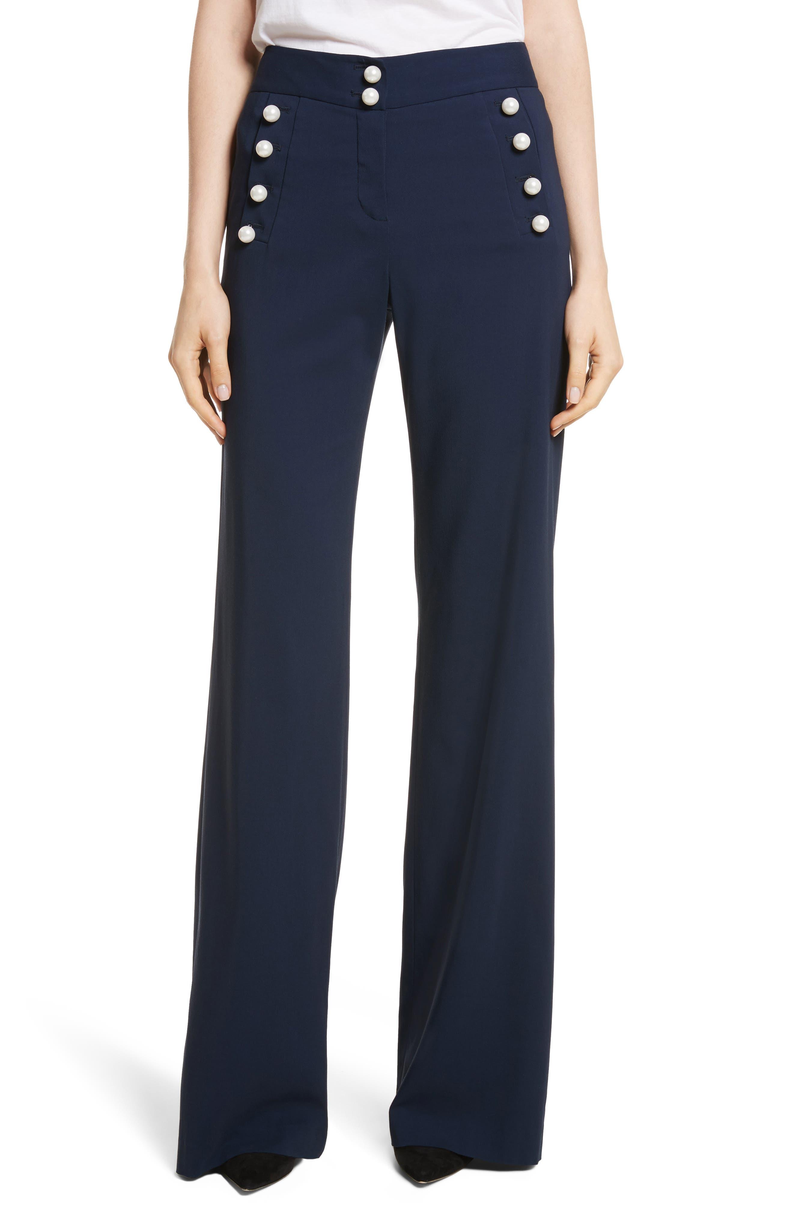 Adley Sailor Pants,                         Main,                         color, Navy