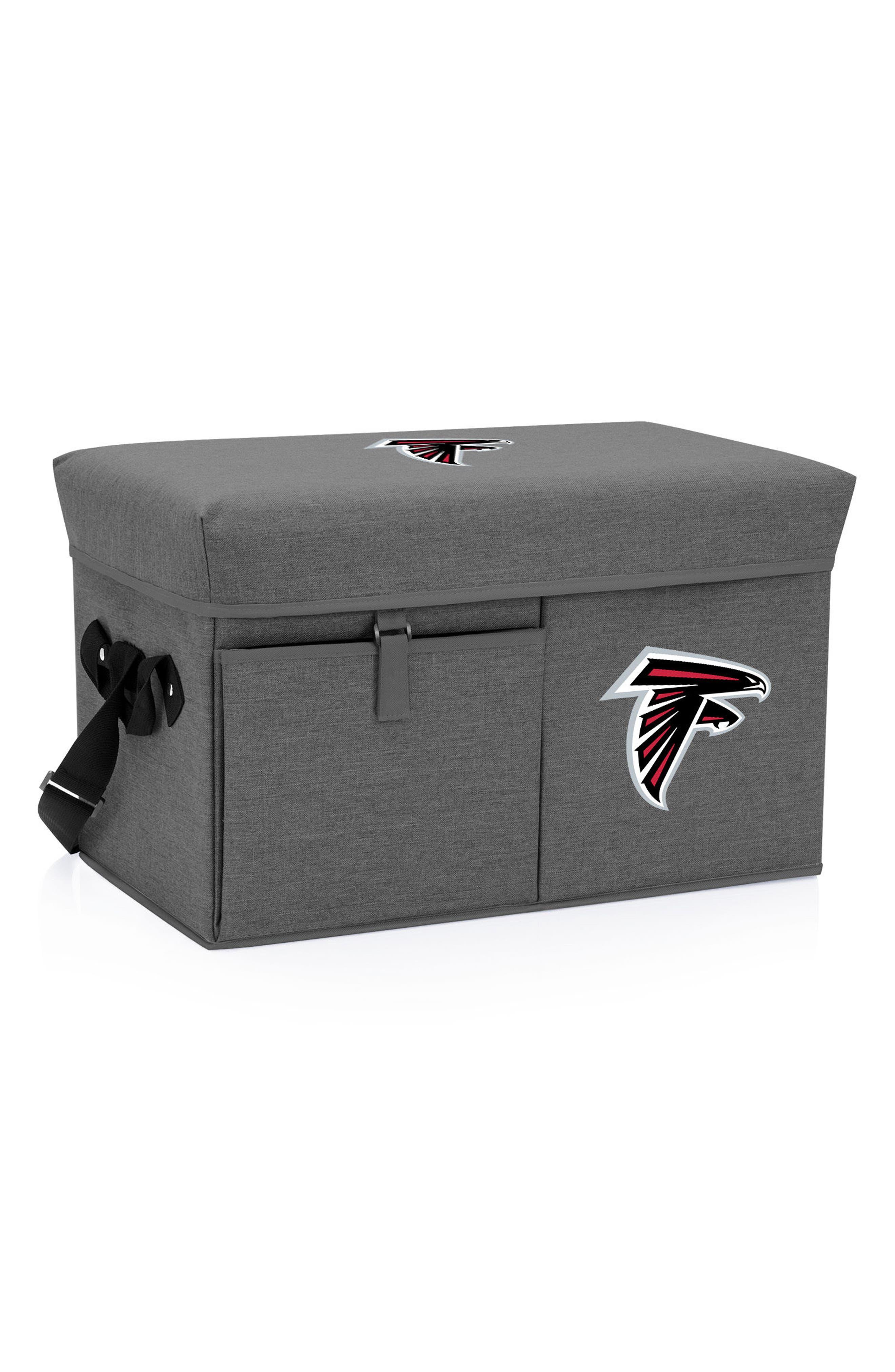NFL Logo Ottoman Cooler,                             Main thumbnail 1, color,                             Atlanta Falcons