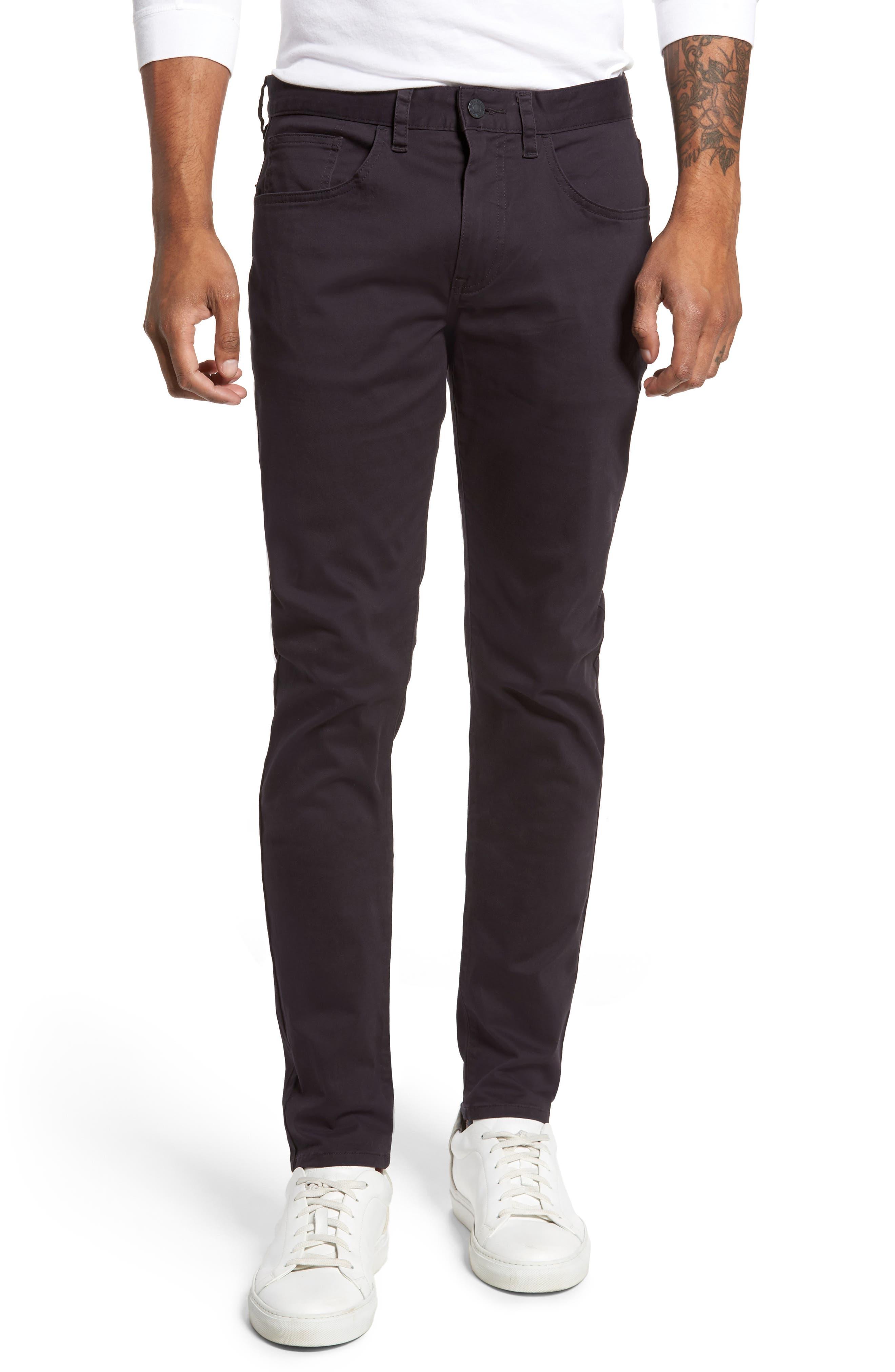 Slim Stretch Twill Pants,                         Main,                         color, Dark Navy