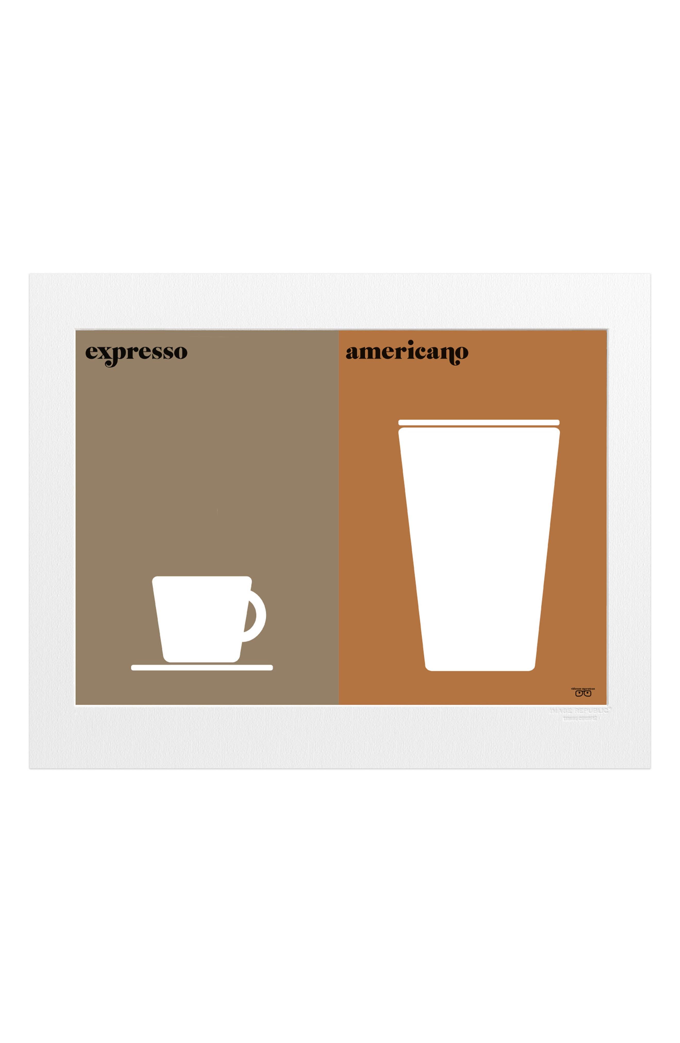 Vahram Le Cafe Print,                         Main,                         color, Brown