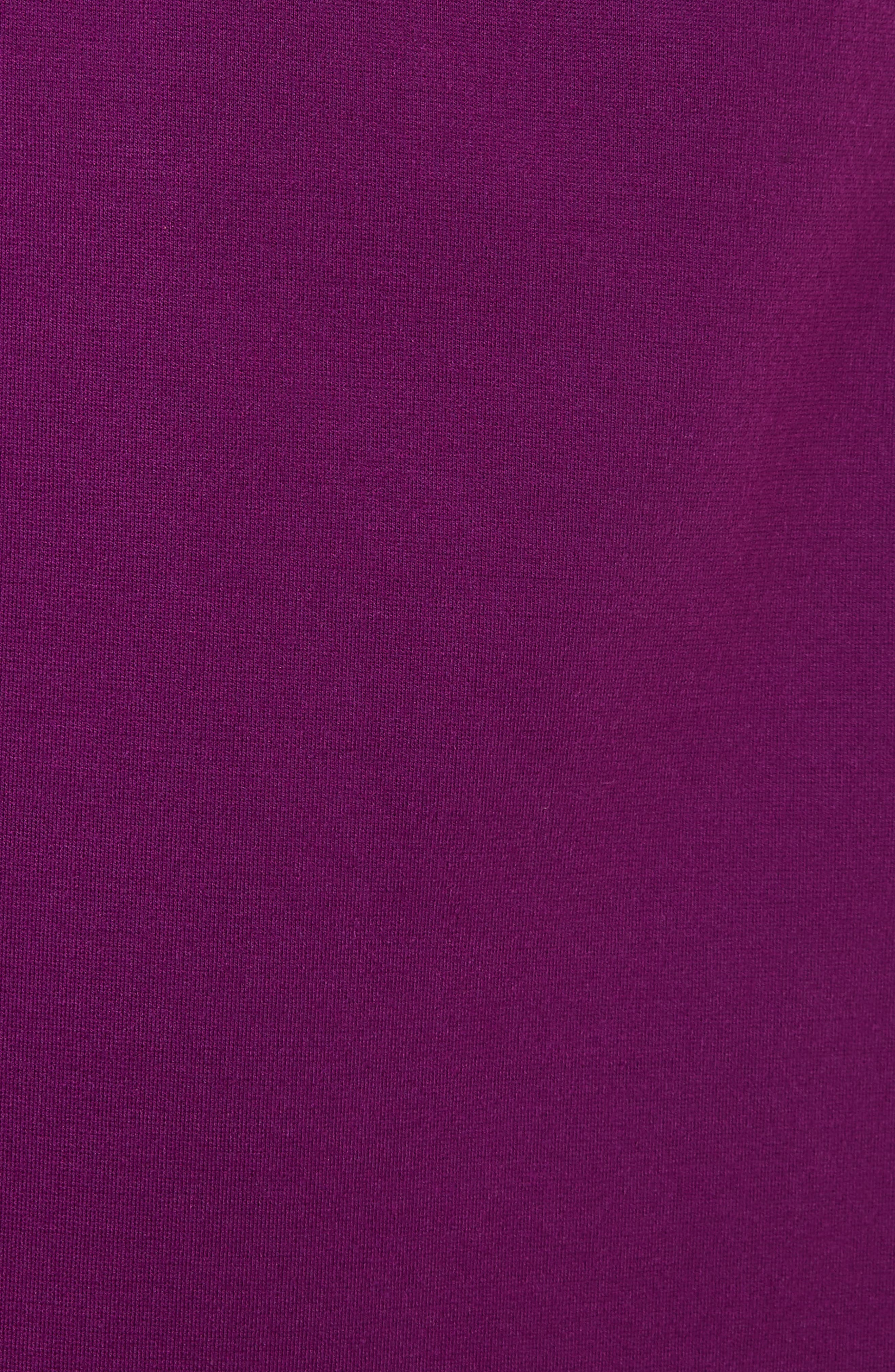 Fidelle Structured Peplum Dress,                             Alternate thumbnail 5, color,                             Deep Purple