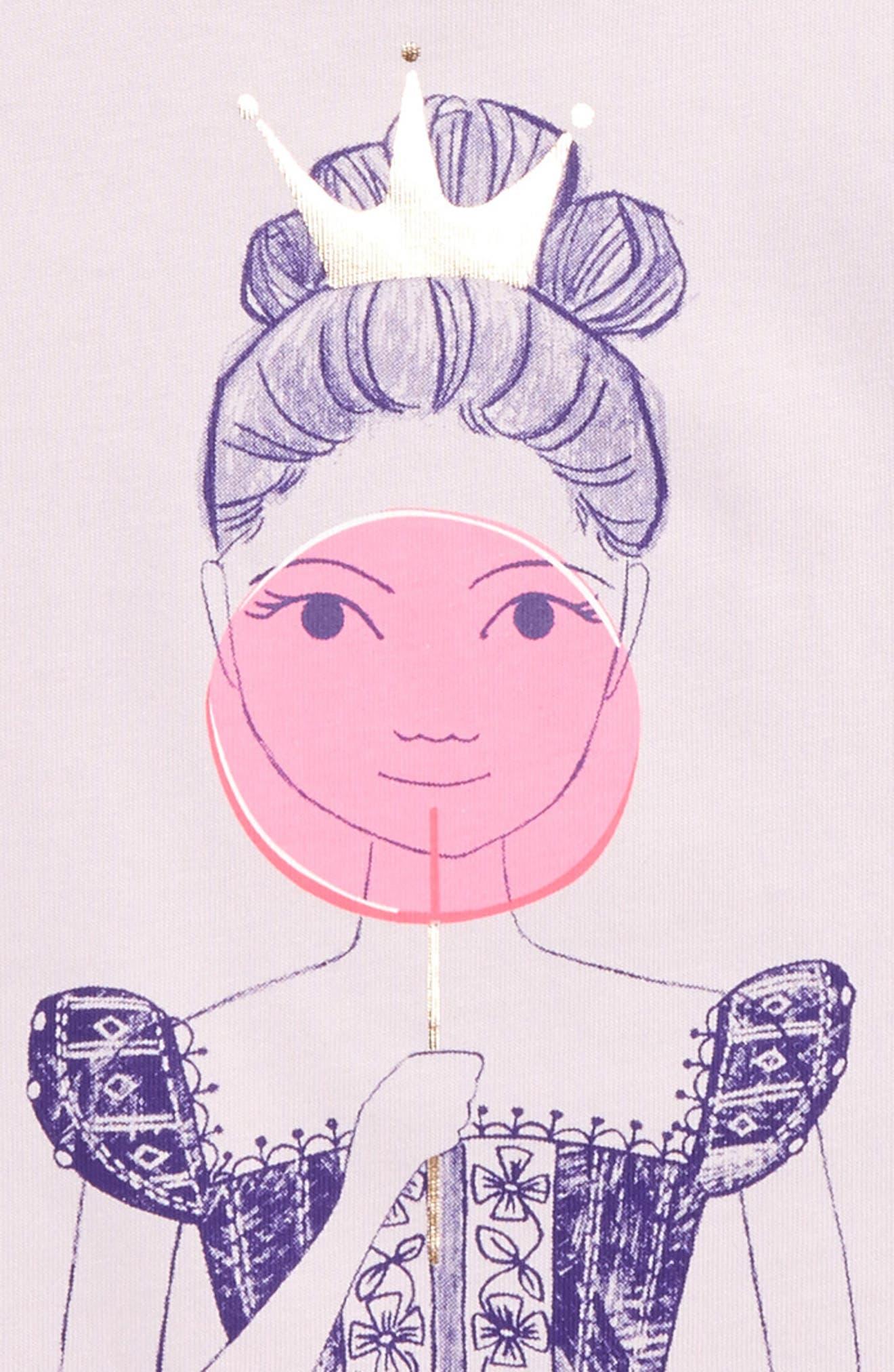 Alternate Image 2  - Tea Collection Queen of Scots Graphic Tee (Toddler Girls, Little Girls & Big Girls)