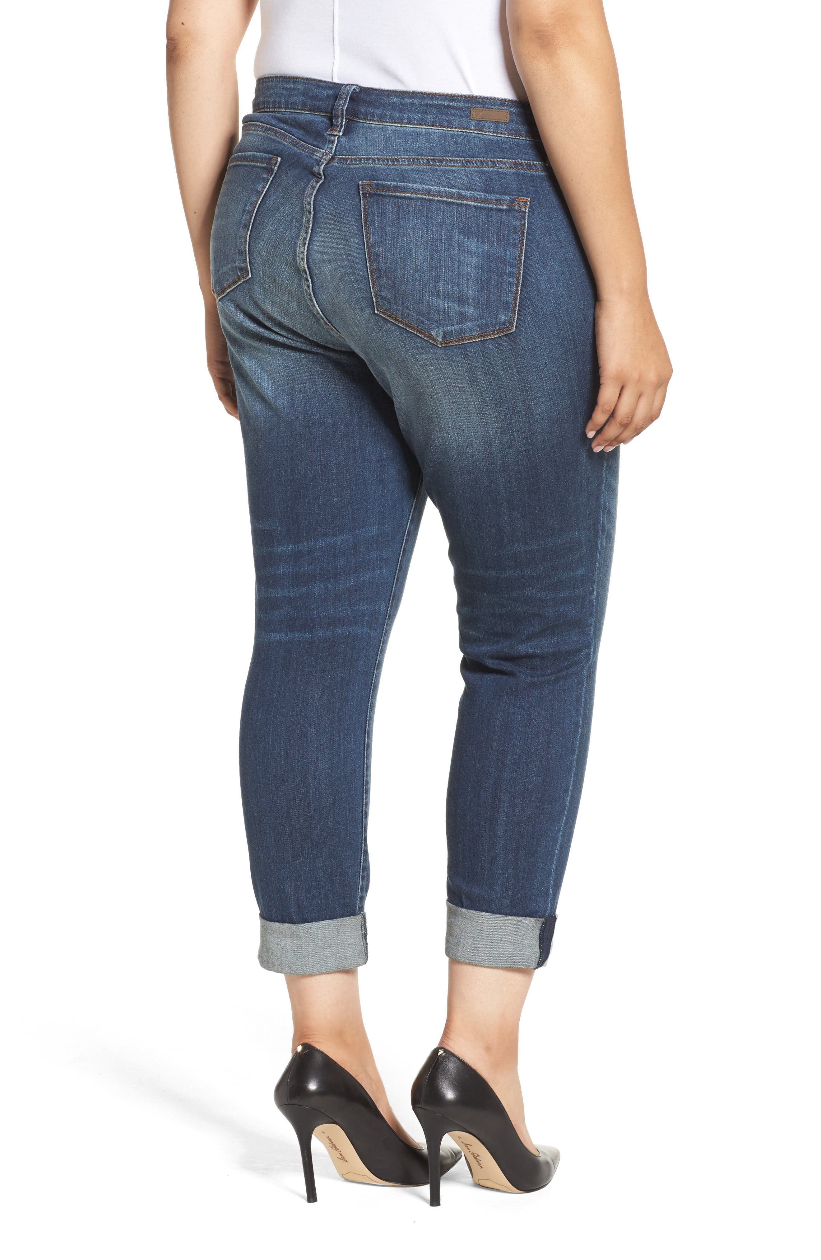 Alternate Image 2  - KUT from the Kloth Catherine Ripped Boyfriend Jeans (Allowing) (Plus Size)