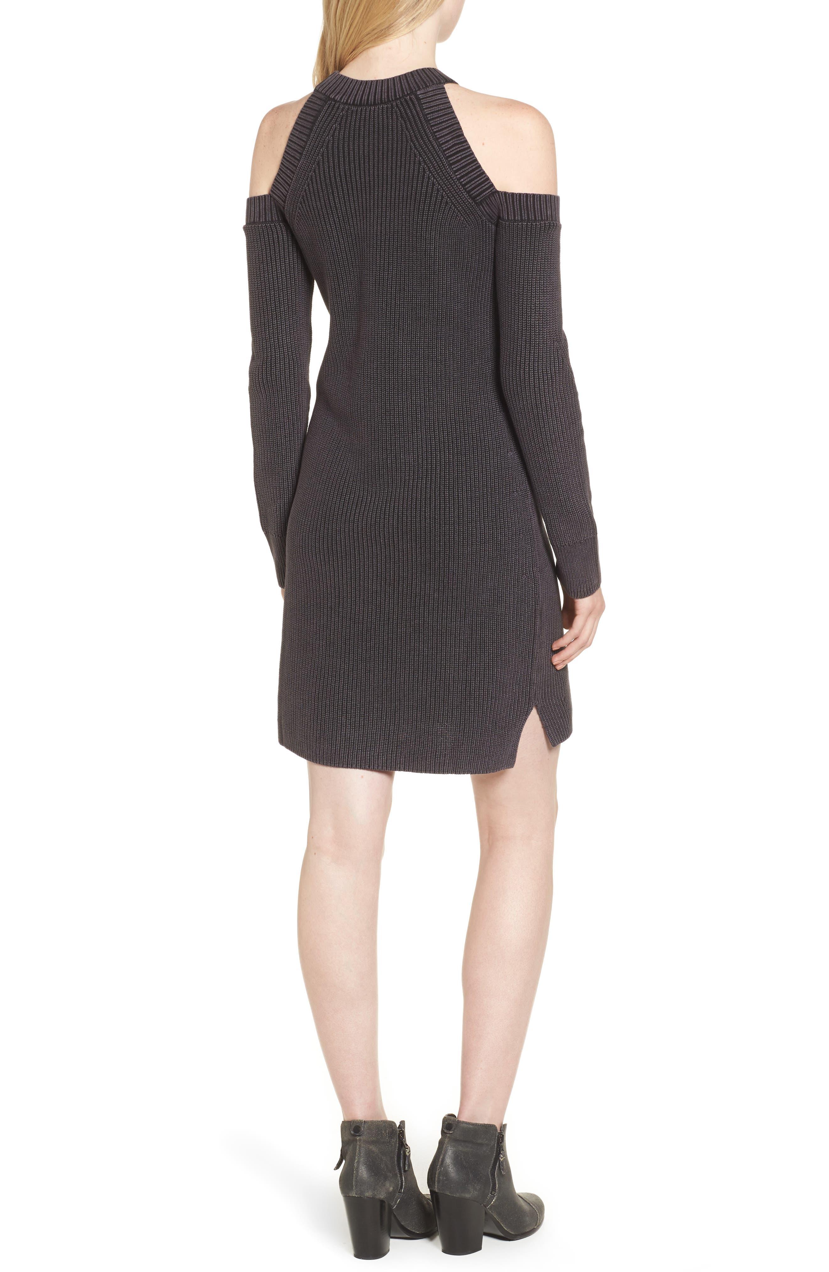 Alternate Image 2  - rag & bone/JEAN Dana Cold Shoulder Sweater Dress