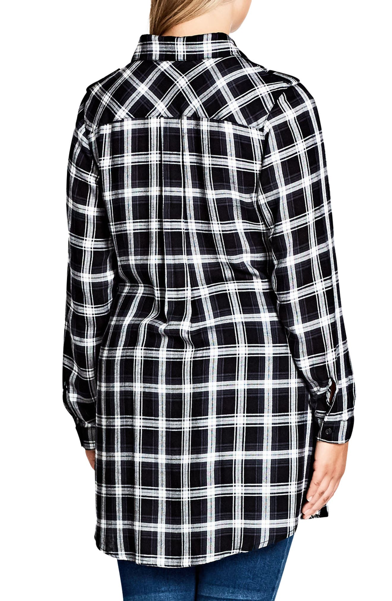 Alternate Image 2  - City Chic Record Love Longline Shirt (Plus Size)