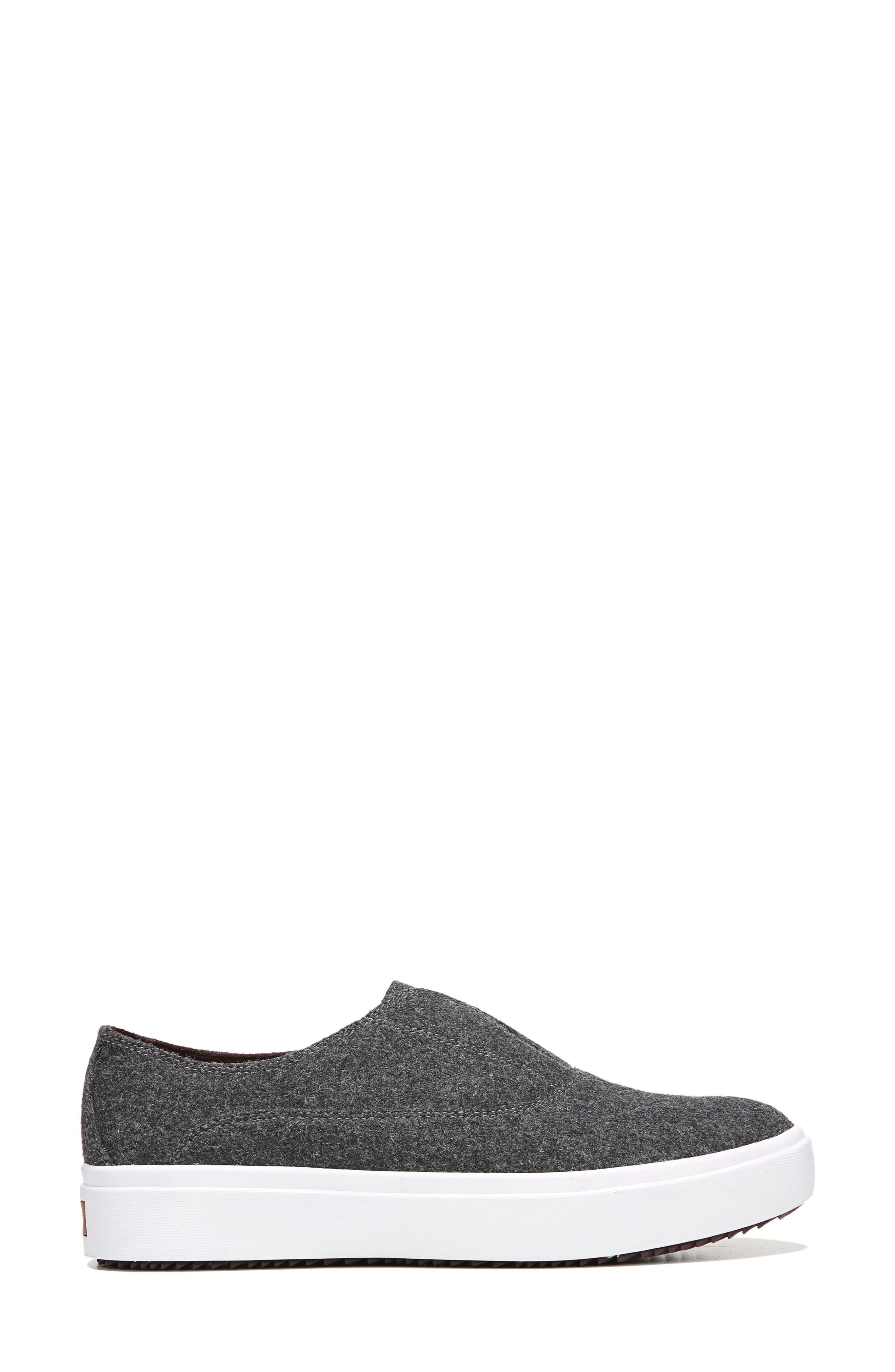 Brey Slip-On Sneaker,                             Alternate thumbnail 3, color,                             Charcoal Fabric