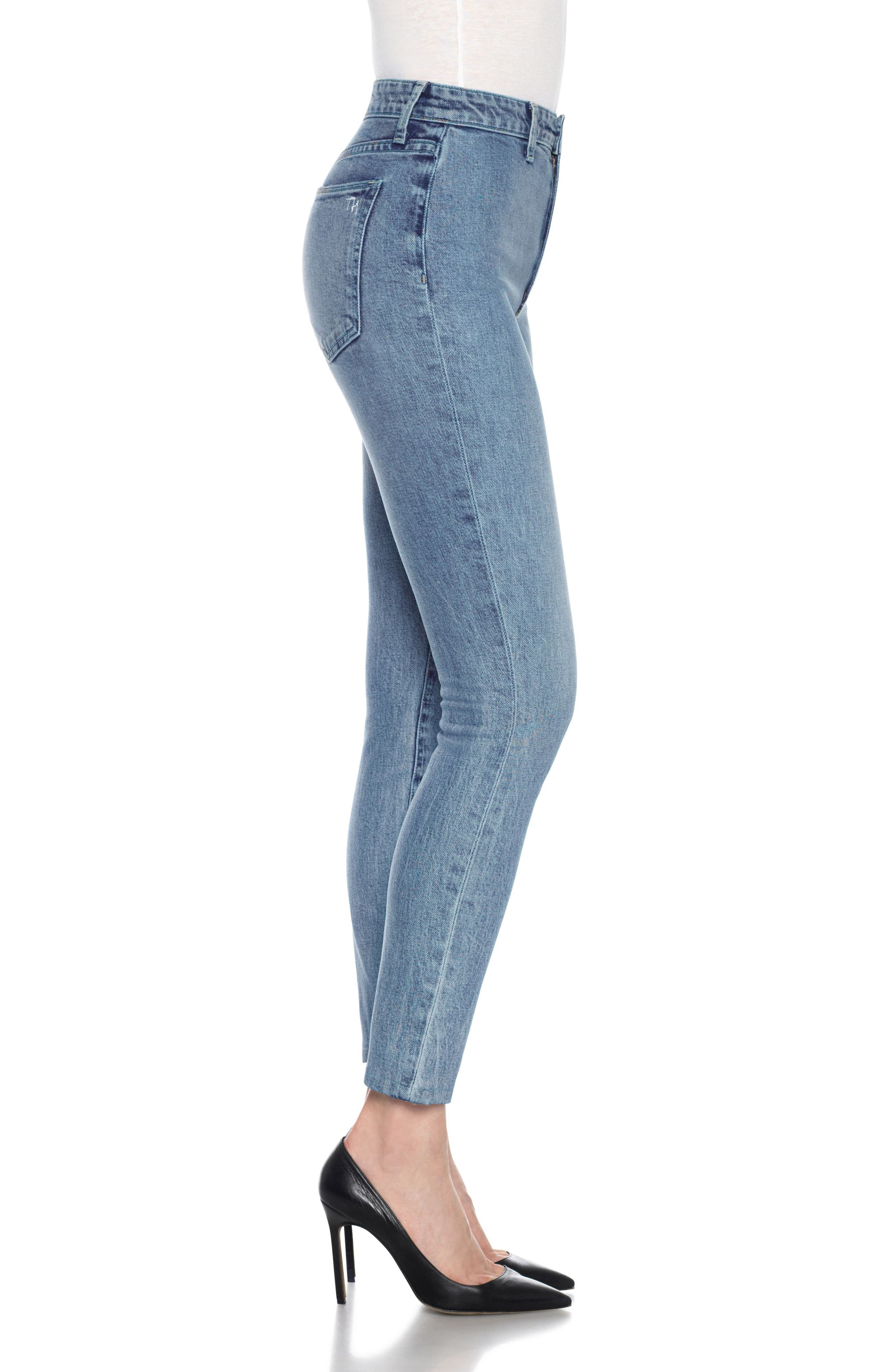 Charlie High Waist Ankle Skinny Jeans,                             Alternate thumbnail 4, color,                             Colorado