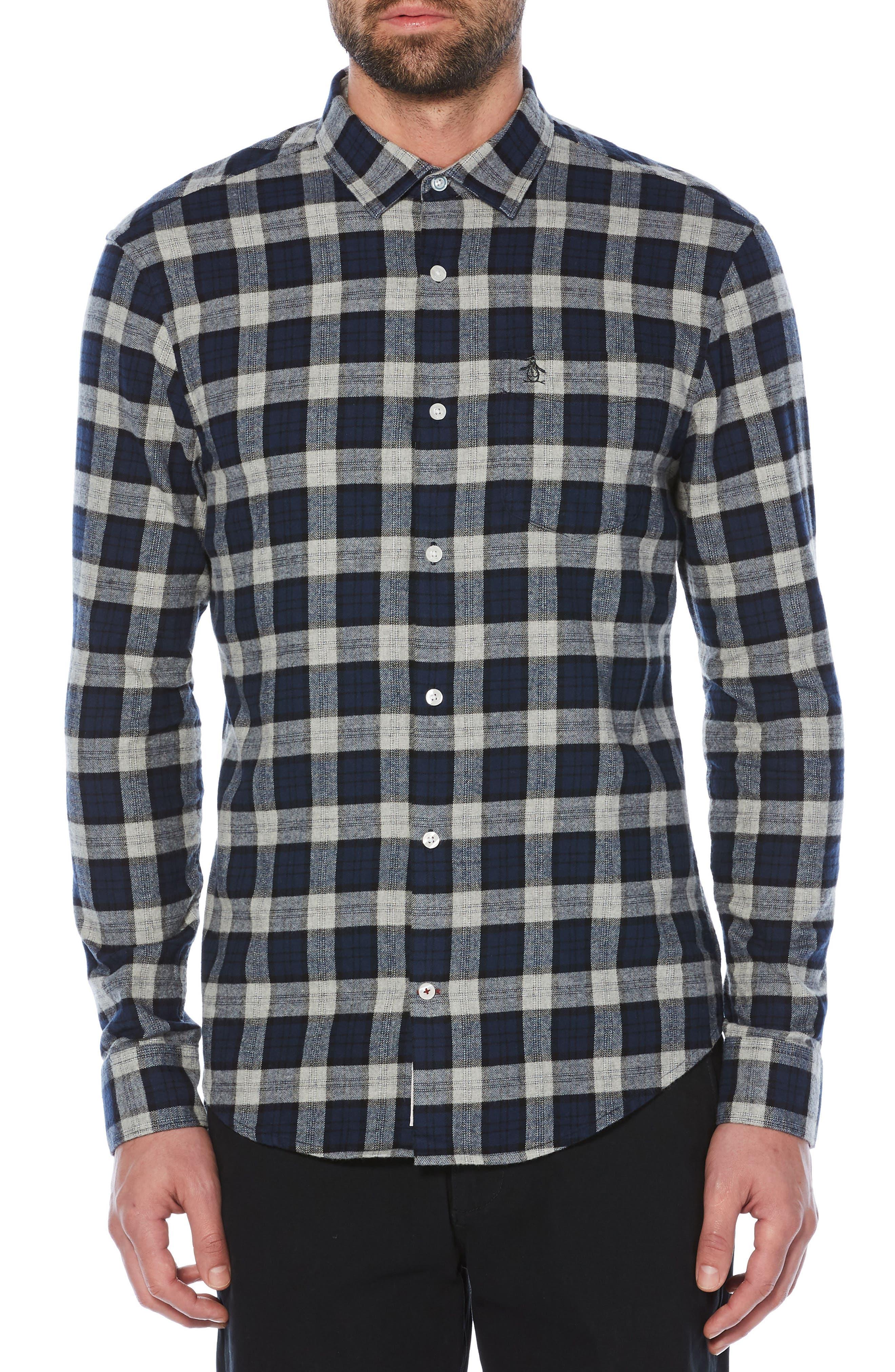 Alternate Image 1 Selected - Original Penguin Plaid Flannel Shirt