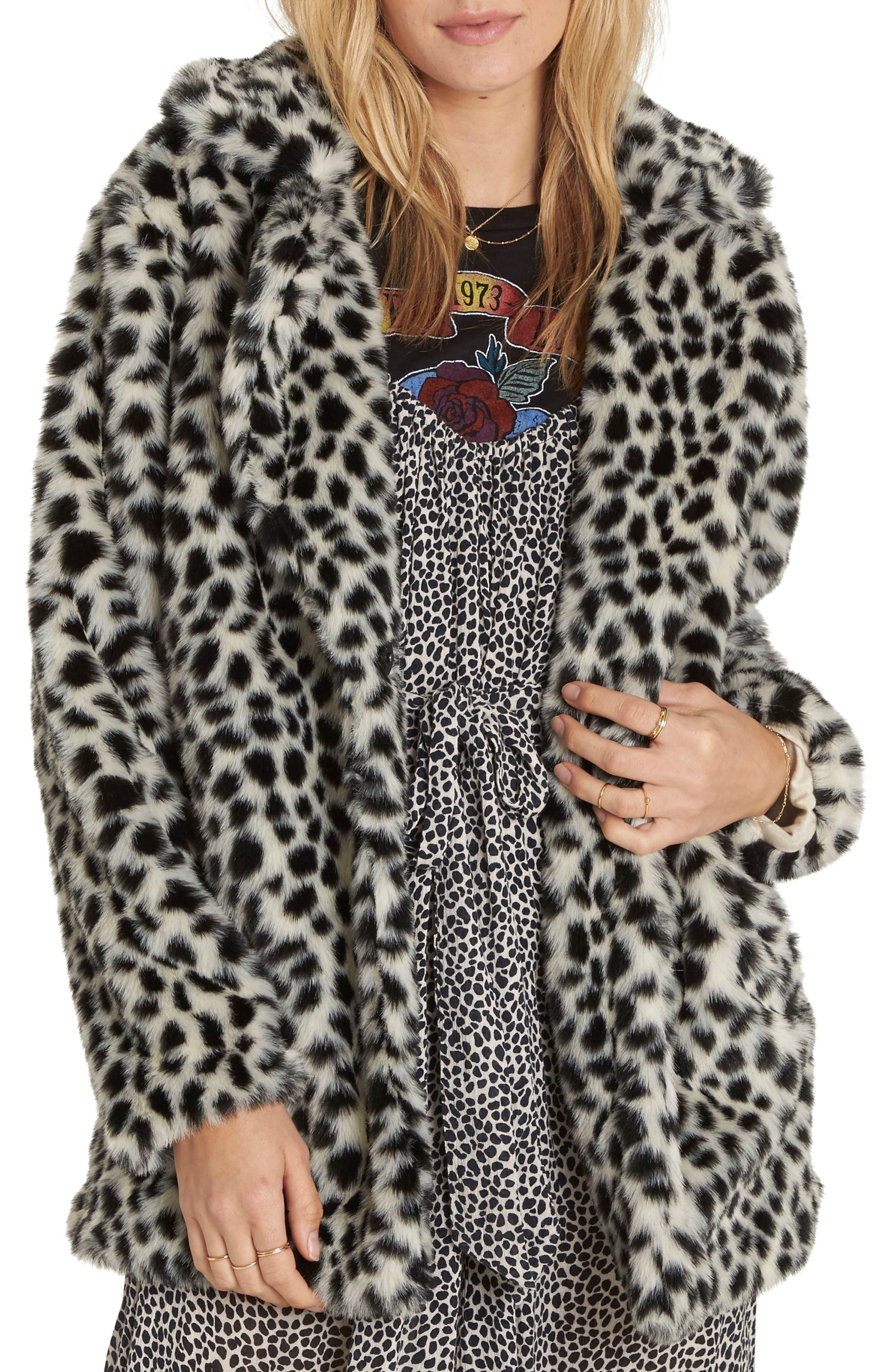 Wild One Faux Fur Coat,                             Main thumbnail 1, color,                             Cheetah