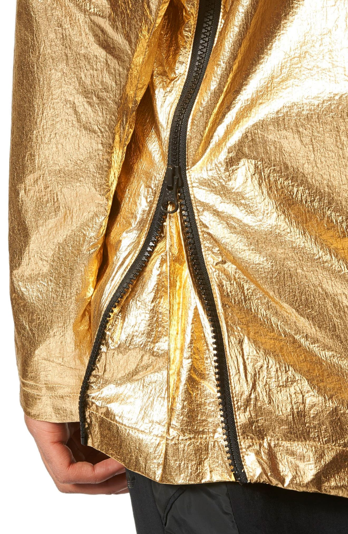Originals Fontanka Hooded Jacket,                             Alternate thumbnail 4, color,                             Gold Met