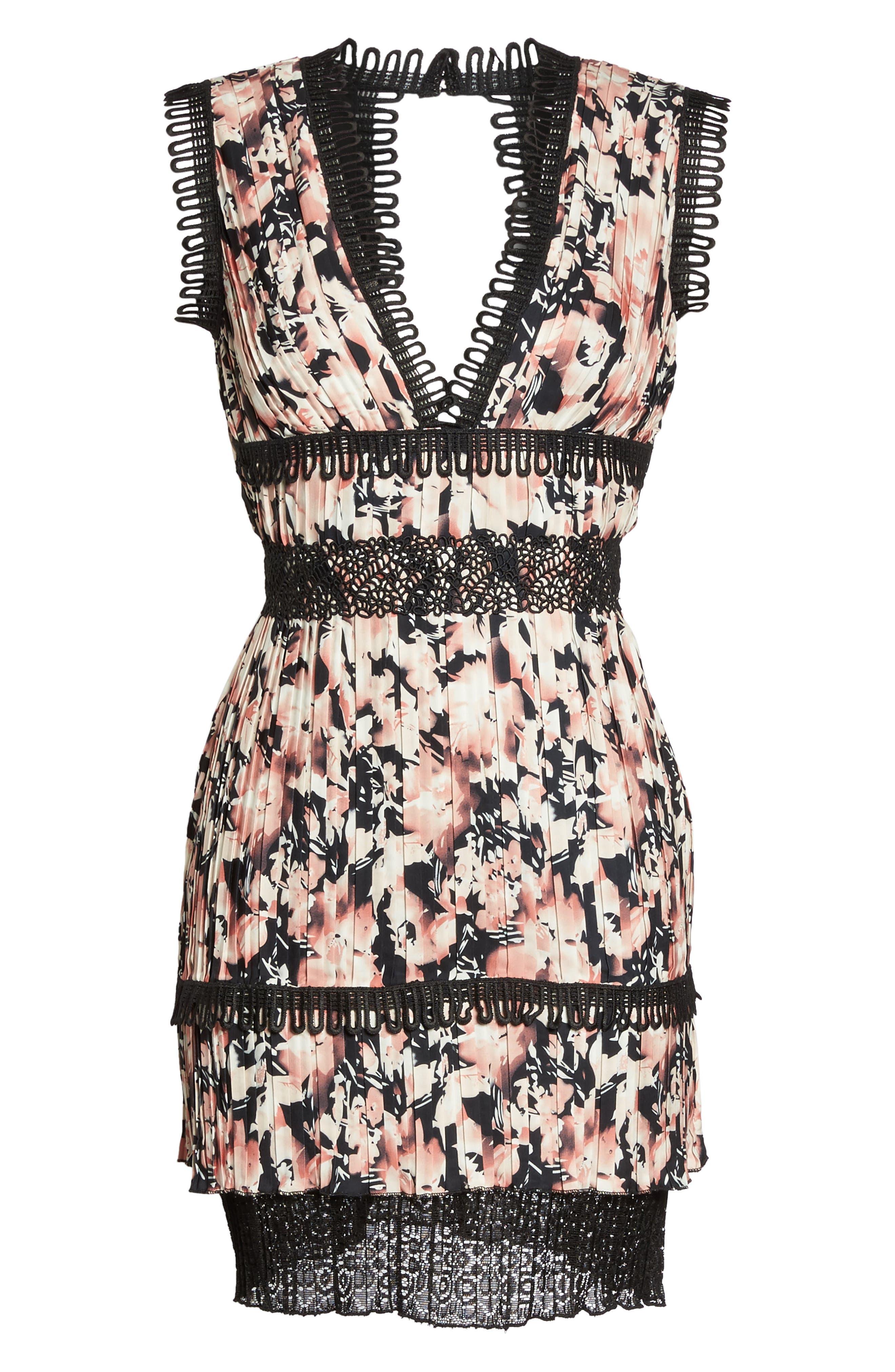Alternate Image 5  - Foxiedox Jasmine Floral Pleated Fit & Flare Dress