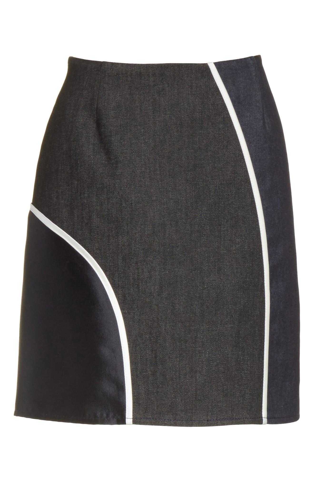 Alternate Image 7  - Harvey Faircloth Roberto Mixed Media Skirt