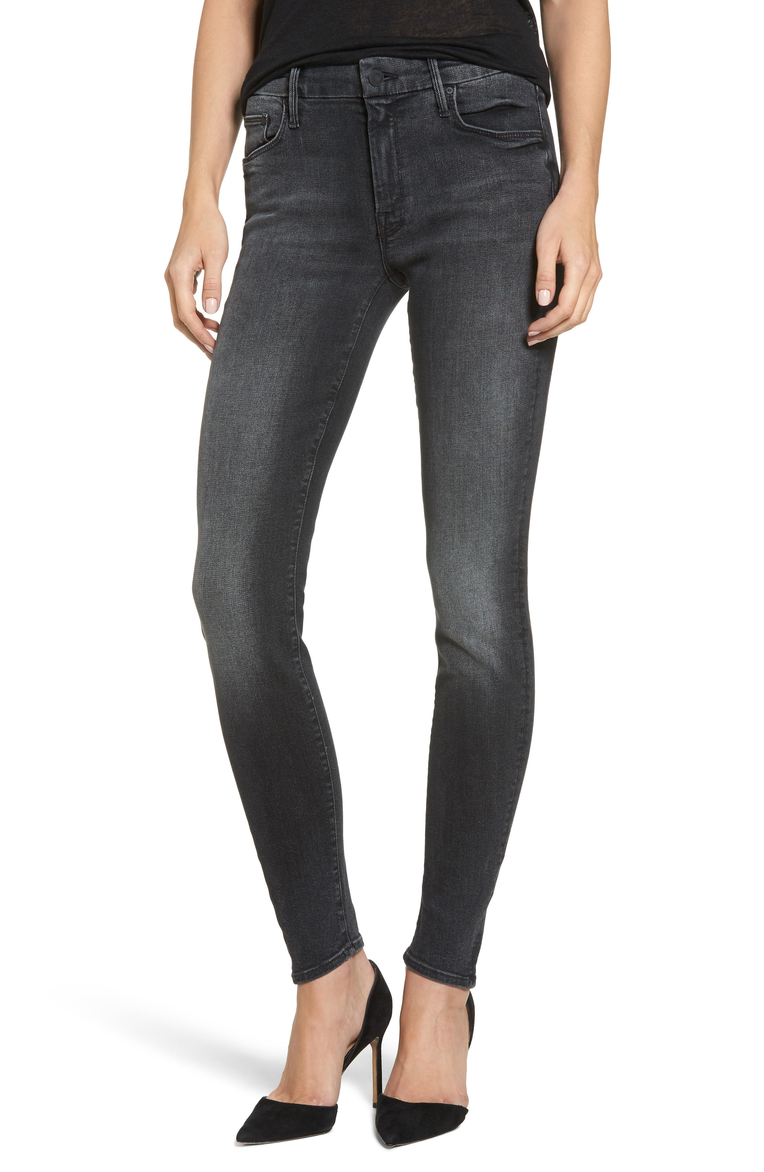 Alternate Image 1 Selected - MOTHER The Looker Mid Rise Skinny Jeans (Cat Got Your Tongue)