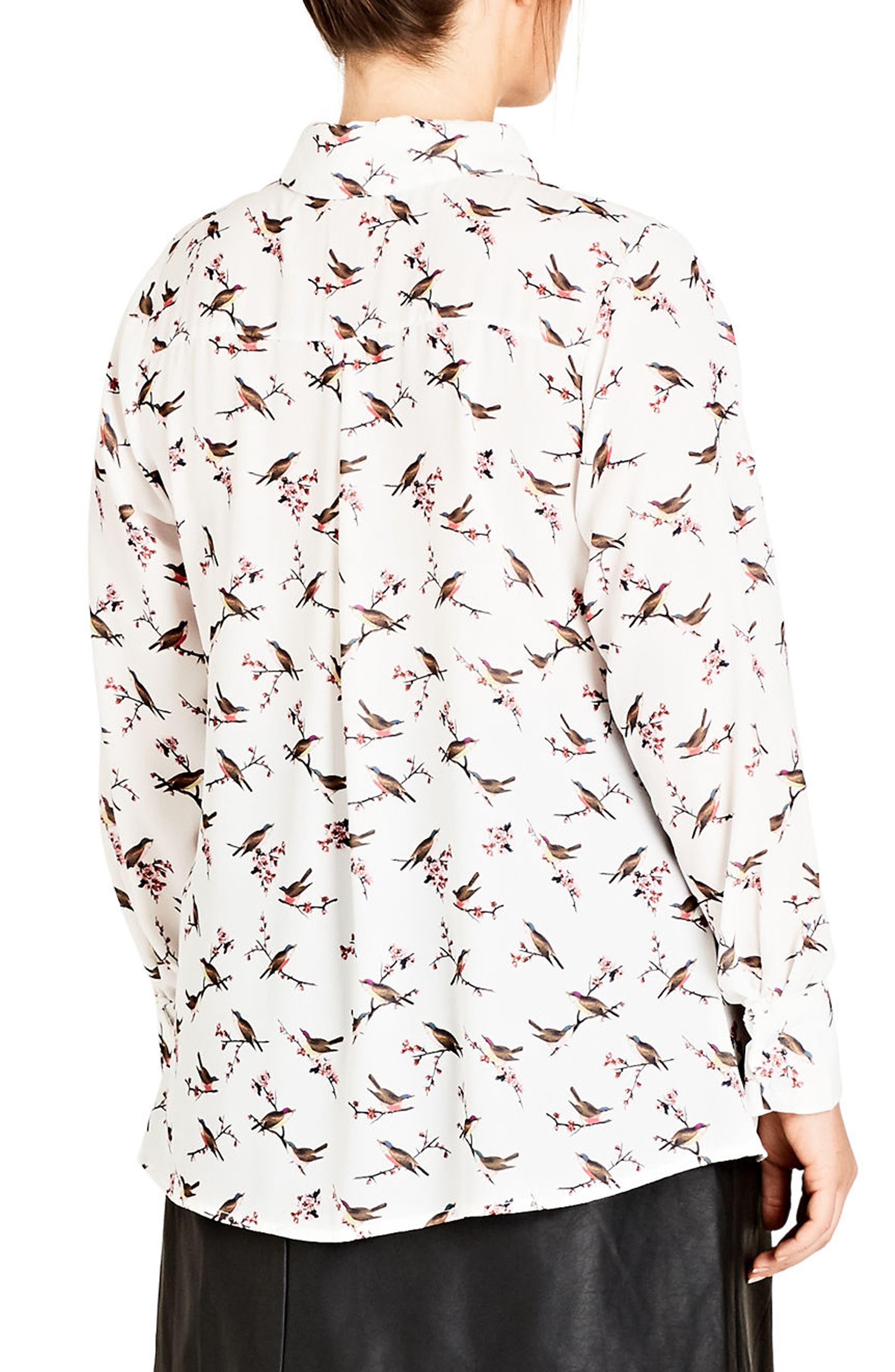 Alternate Image 2  - City Chic Birdy Shirt (Plus Size)