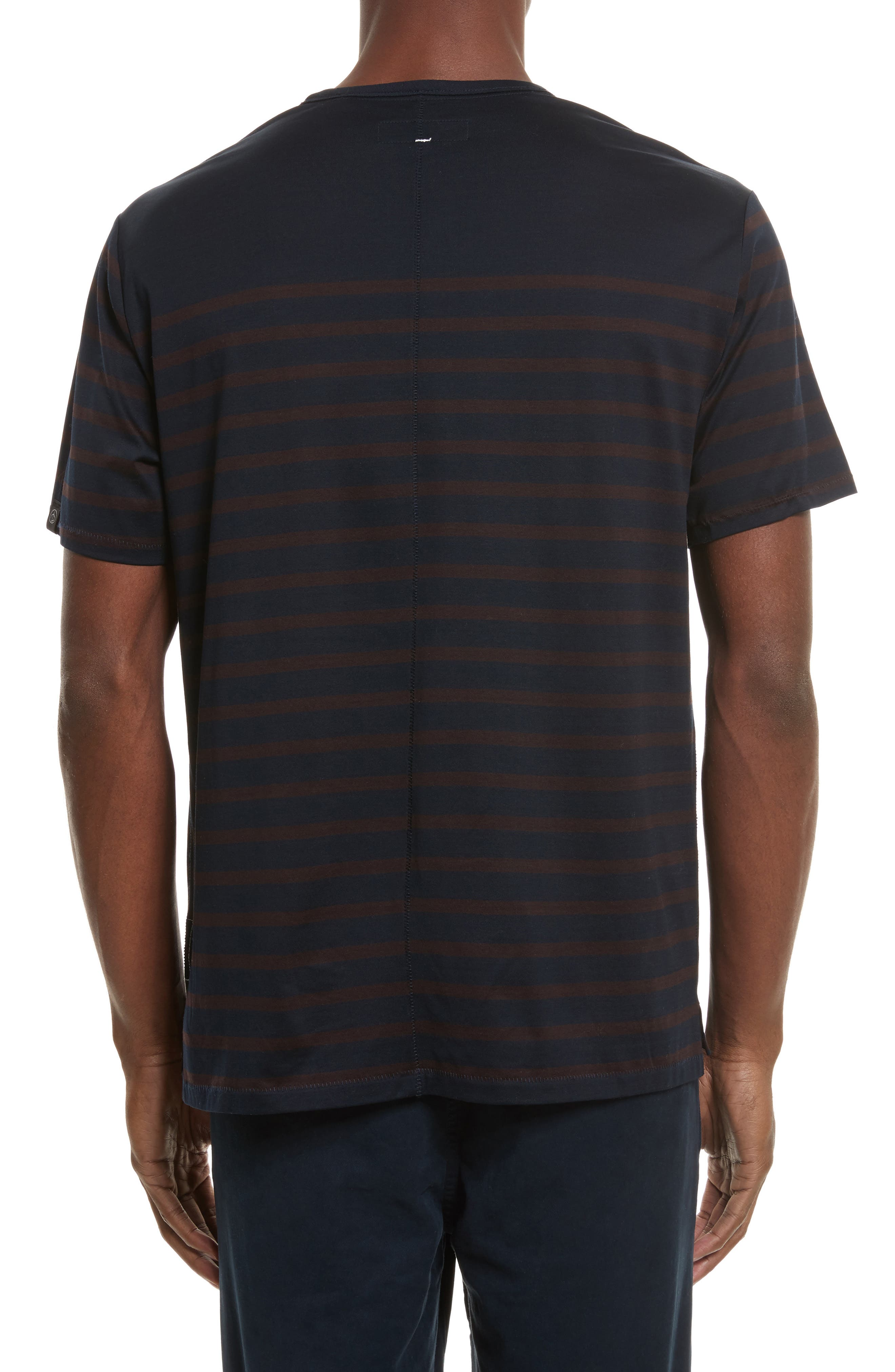 Henry Stripe T-Shirt,                             Alternate thumbnail 2, color,                             Navy/ Chocolate