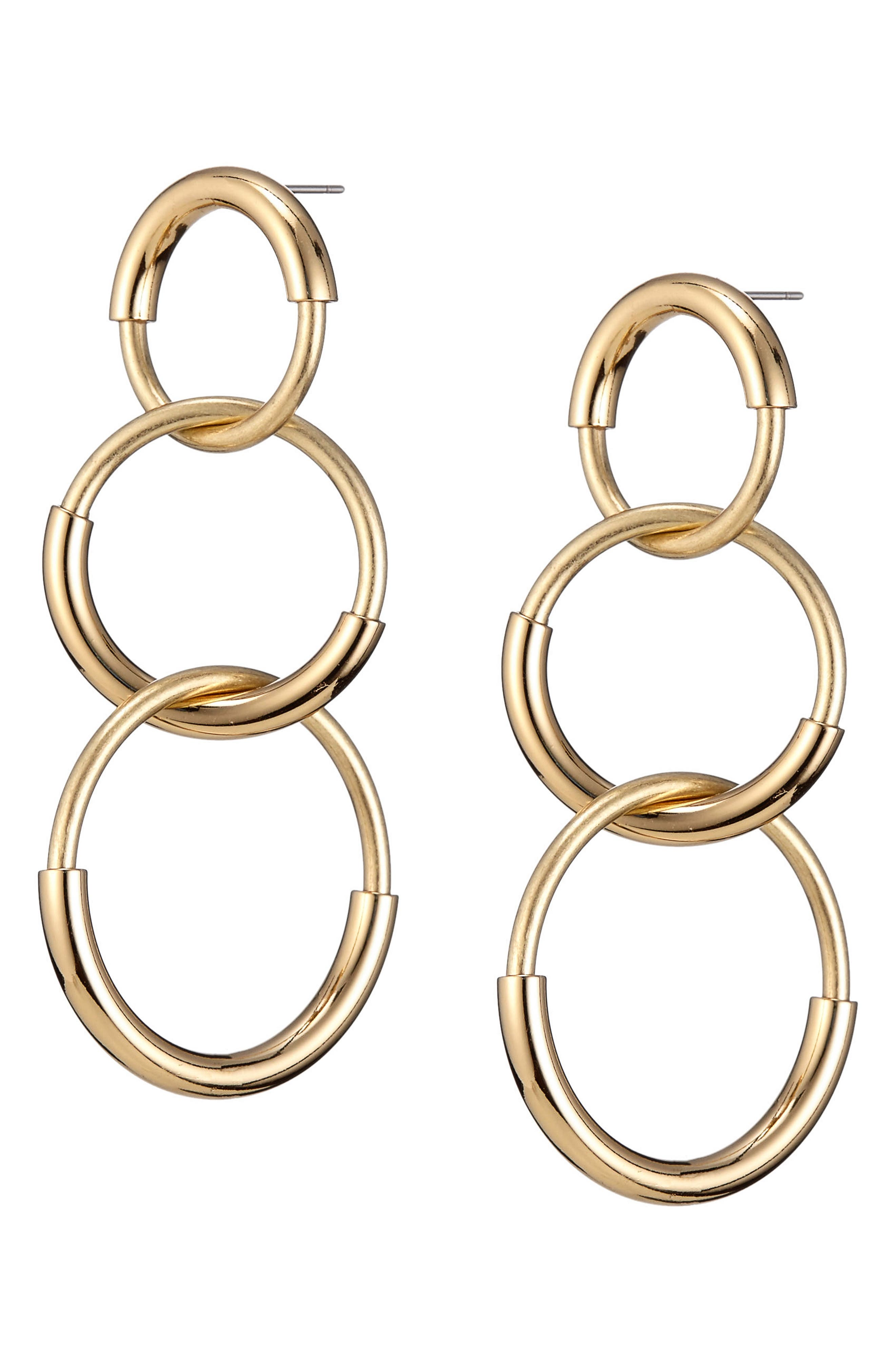 Ossie Drop Earrings,                             Alternate thumbnail 3, color,                             Gold