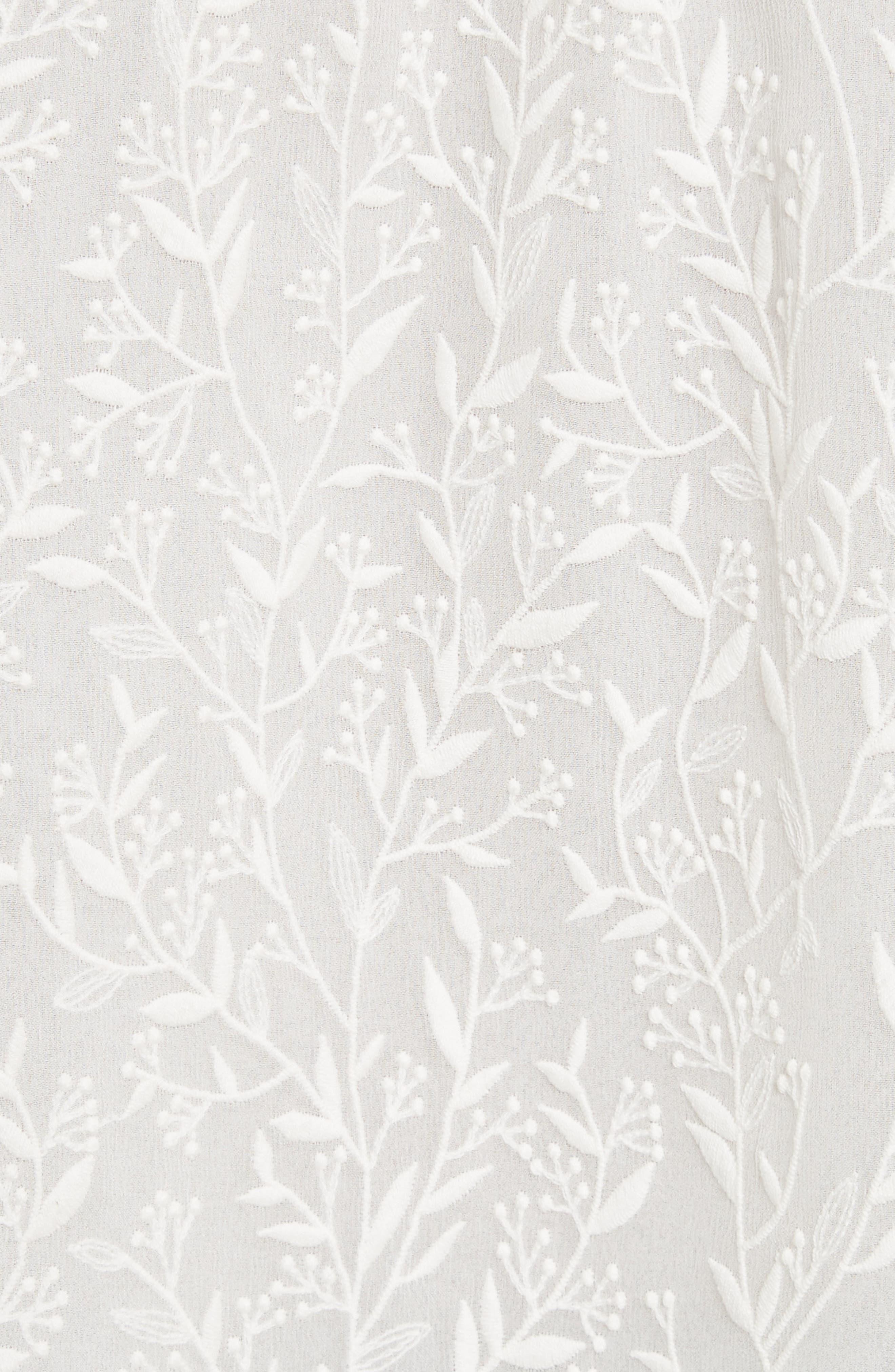 Alternate Image 5  - Rebecca Taylor Textured Vines Silk Top