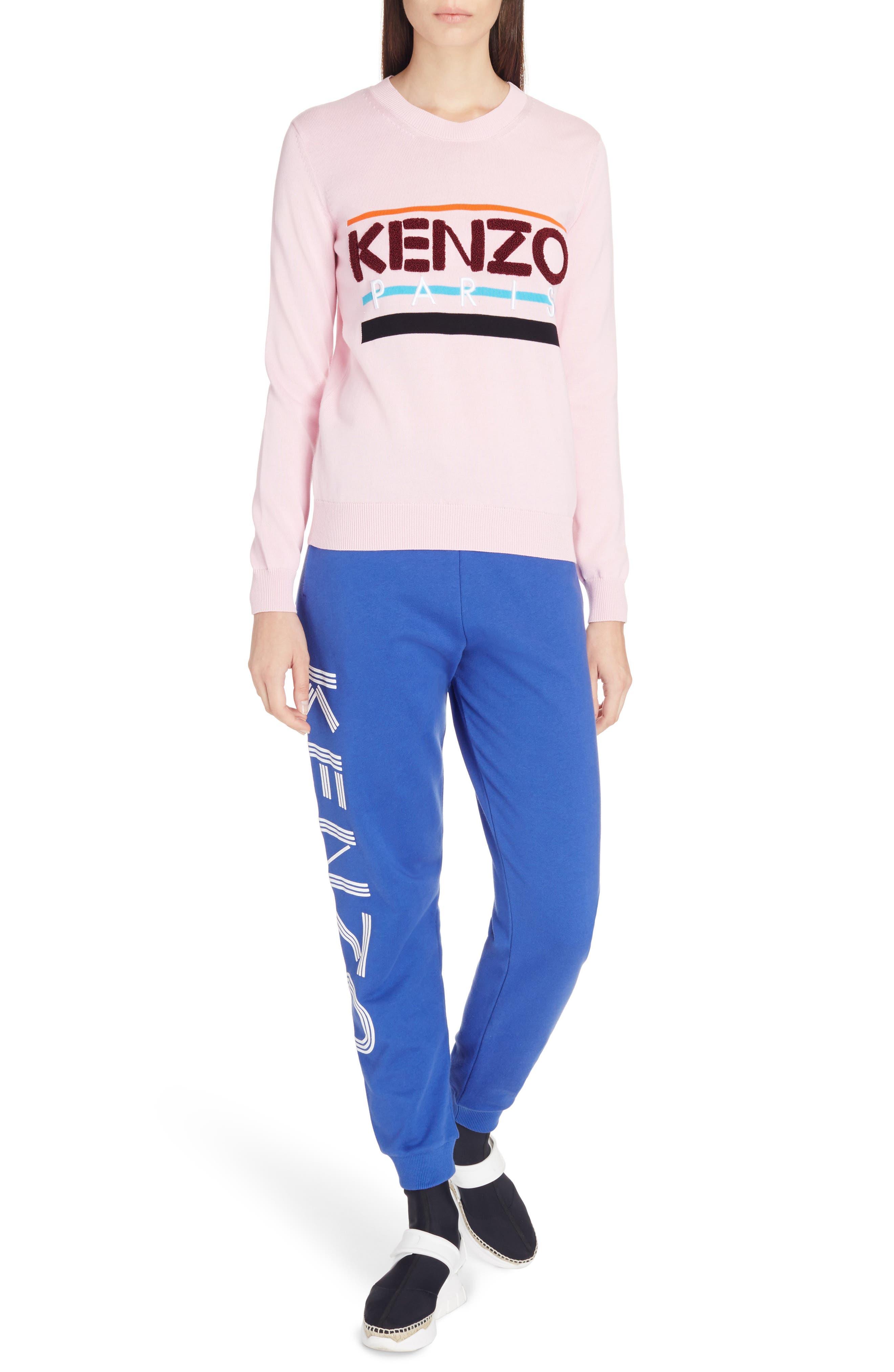 Paris Logo Sweatshirt,                             Alternate thumbnail 4, color,                             Flamingo Pink