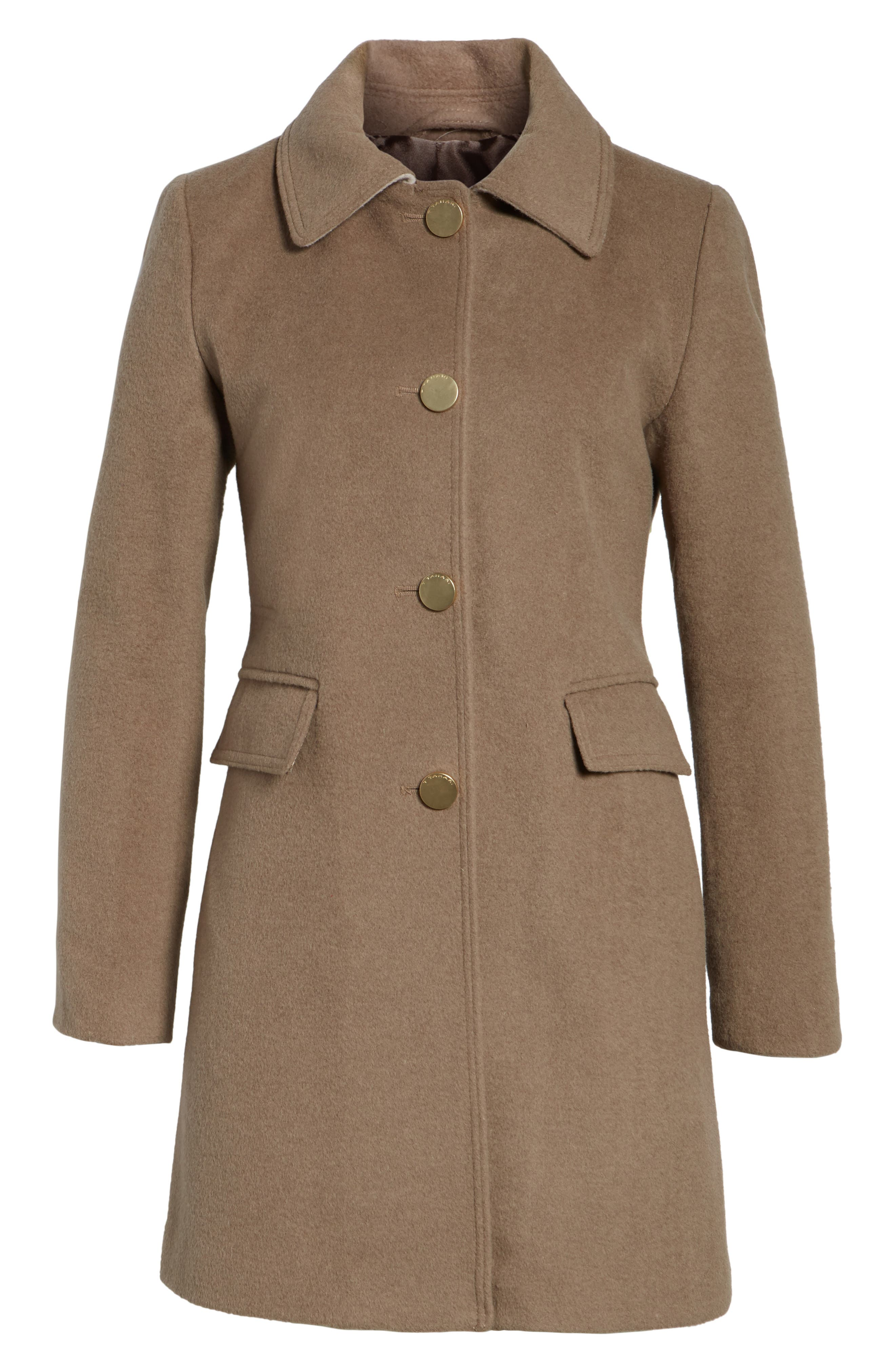 Tahari Sophia Wool A-Line Coat