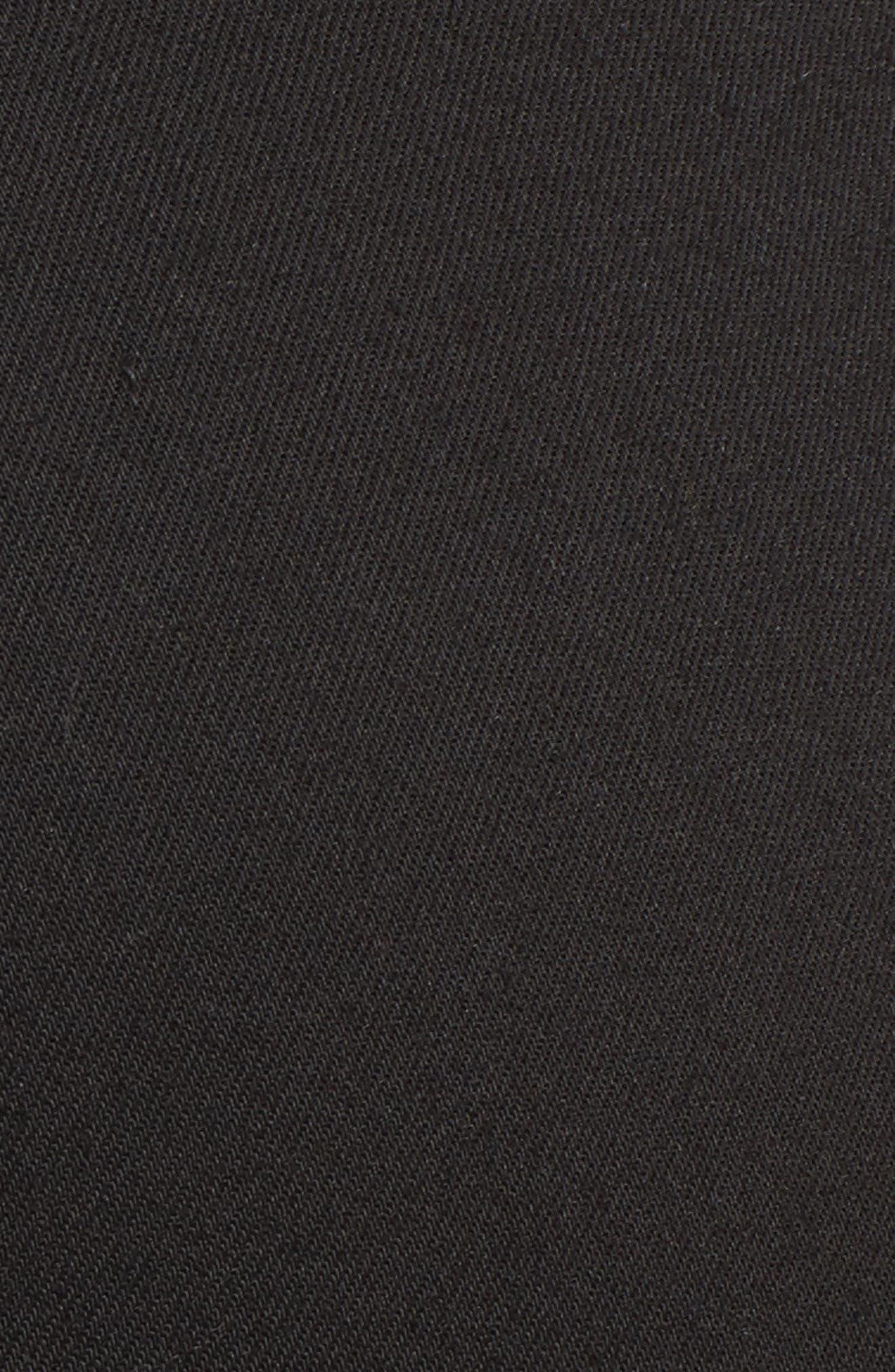 PARKER Novak Slit Hem Trouser Jeans,                             Alternate thumbnail 5, color,                             Eternal Black