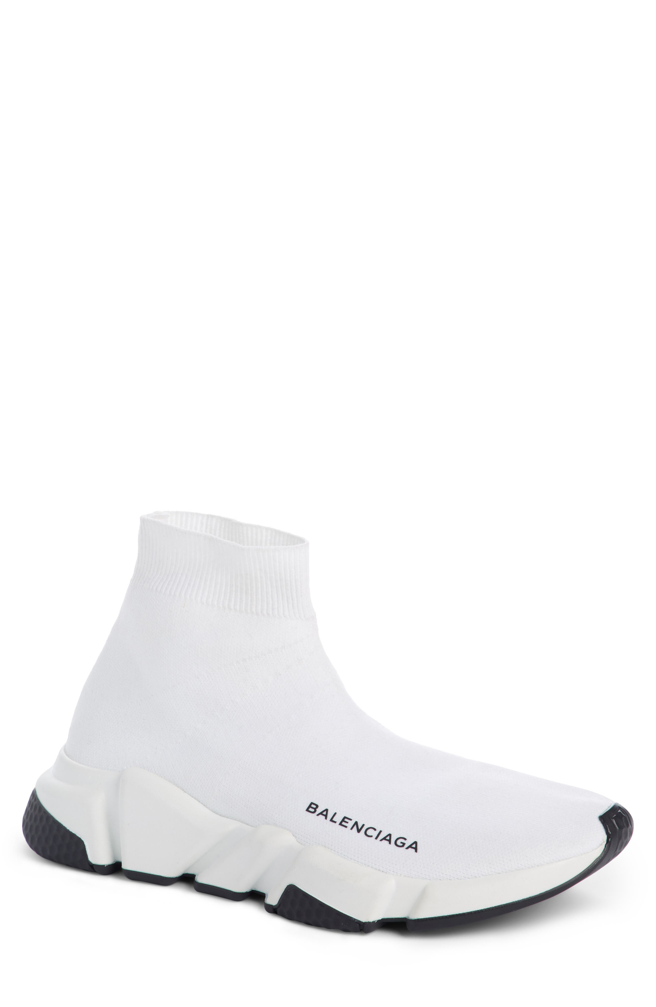 Speed Mid Sneaker,                         Main,                         color, White