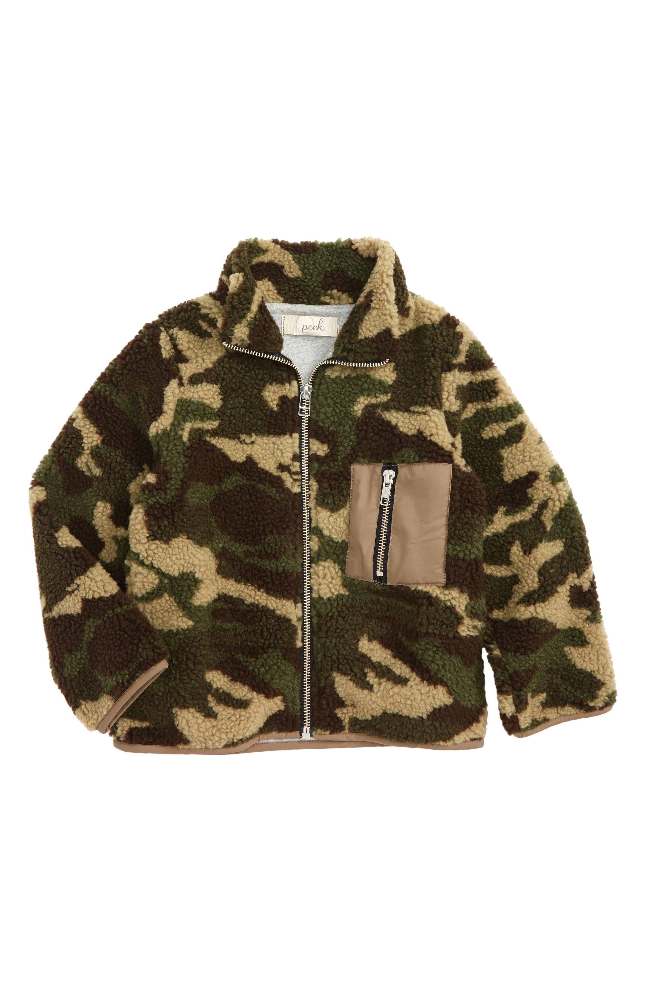 Alternate Image 1 Selected - Peek MJ Camo Fleece Jacket (Toddler Boys, Little Boys & Big Boys)