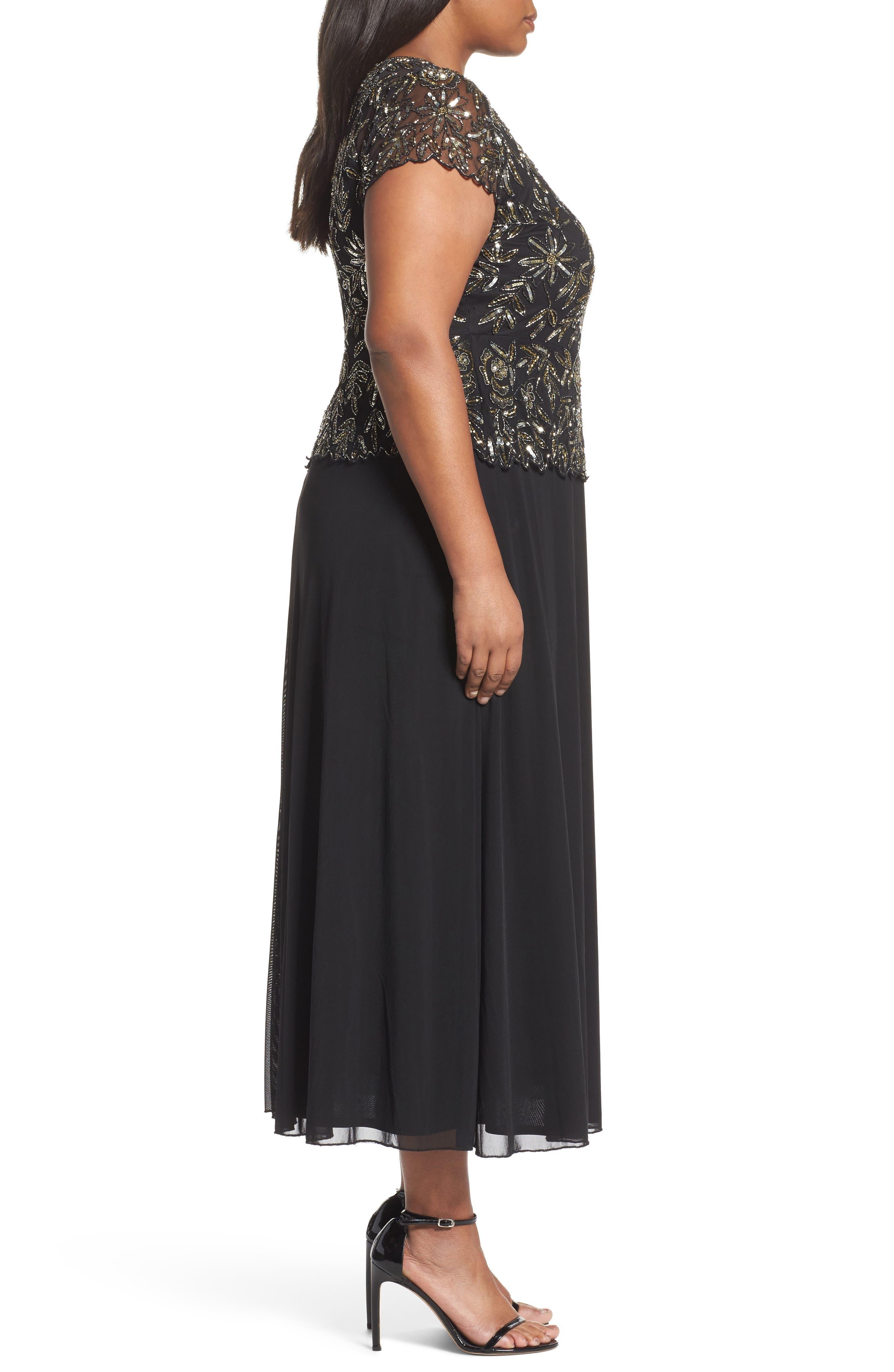 Alternate Image 3  - Pisarro Nights Mock 2-Pc. A-Line Gown (Plus Size)