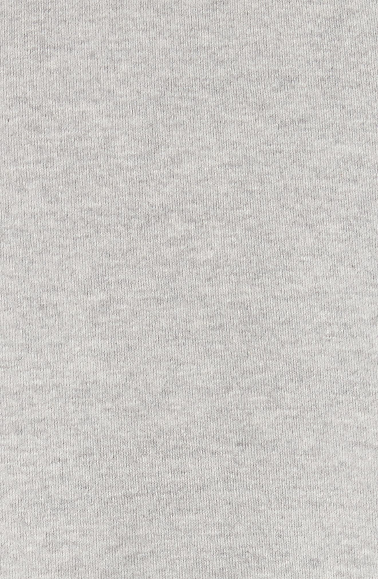 PSWL Graphic Jersey Oversize Sweatshirt,                             Alternate thumbnail 6, color,                             Grey Melange/ White Logo