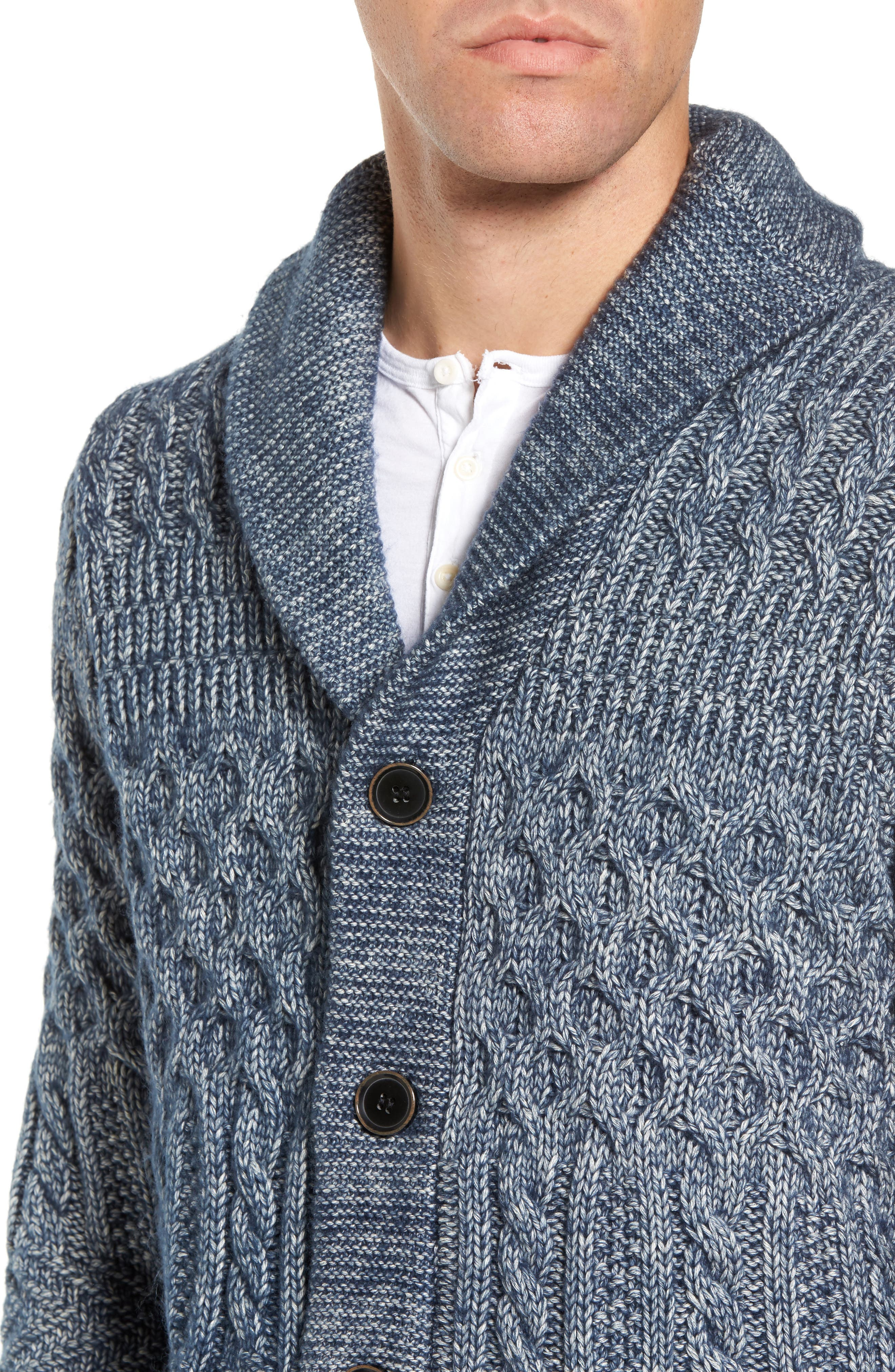Alternate Image 4  - Schott NYC Cable Knit Cardigan