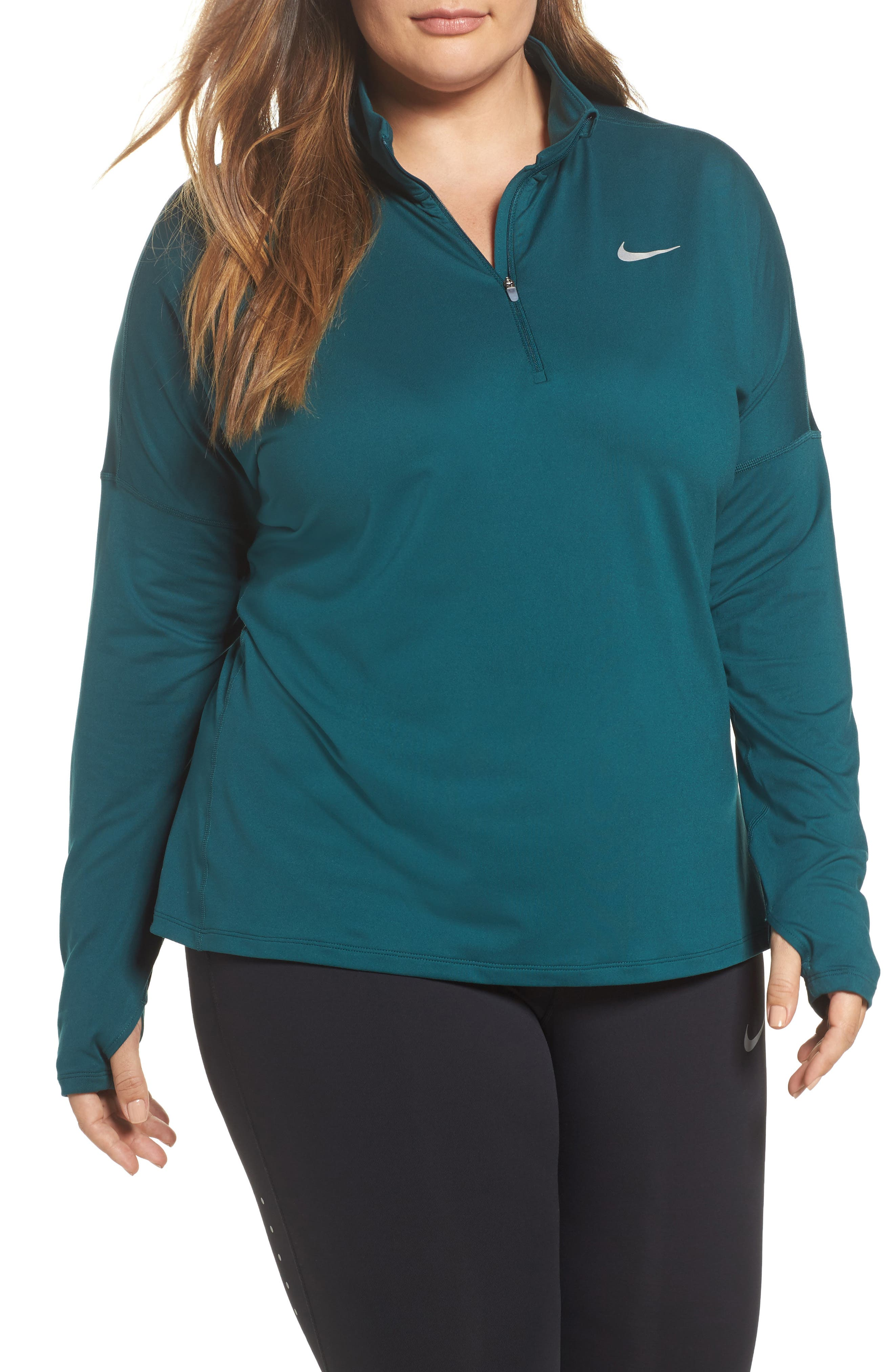 Alternate Image 1 Selected - Nike Dry Element Half Zip Top (Plus Size)