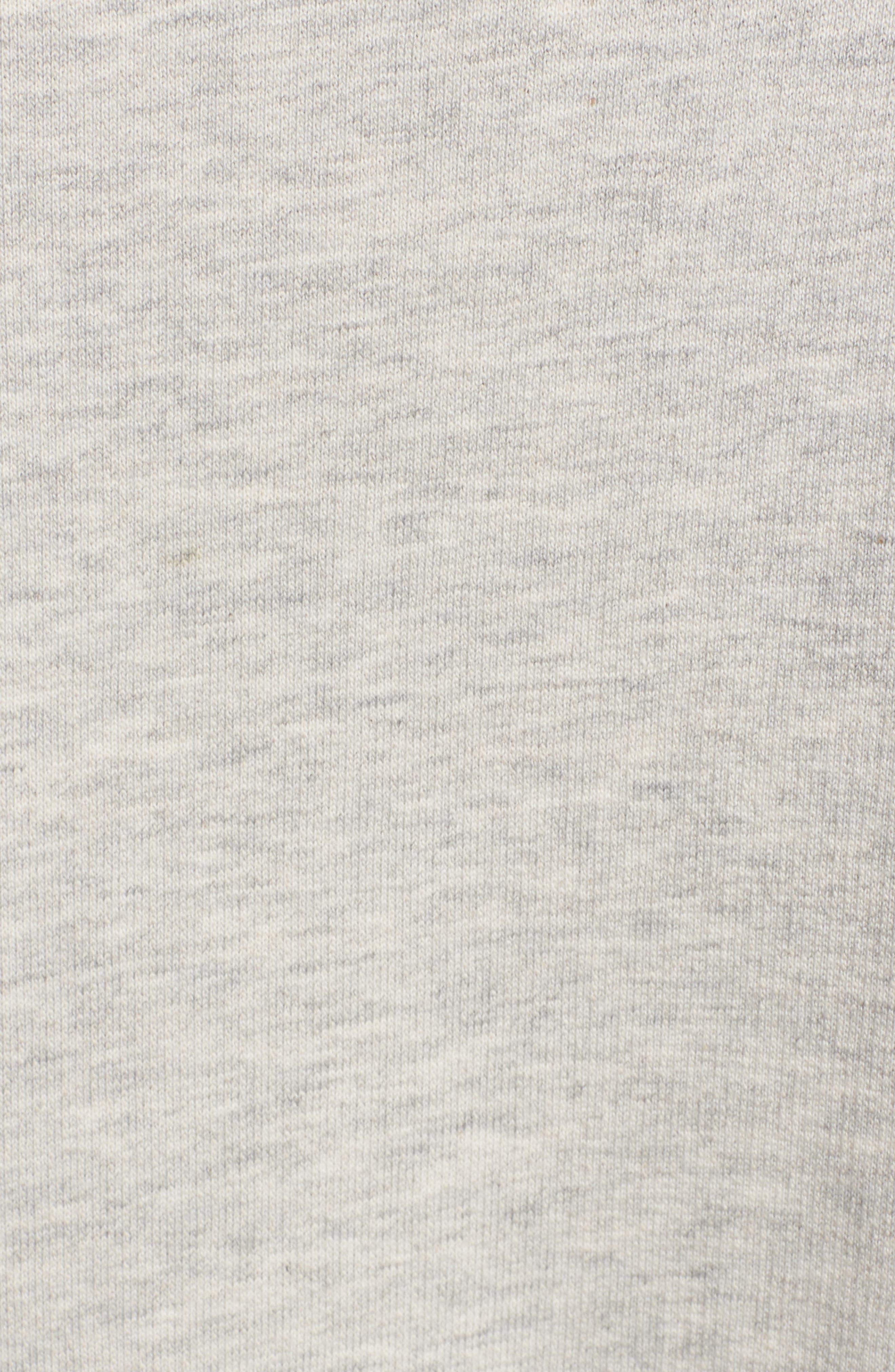 Mariska Fleece Knit Dress,                             Alternate thumbnail 6, color,                             Heather Sterling