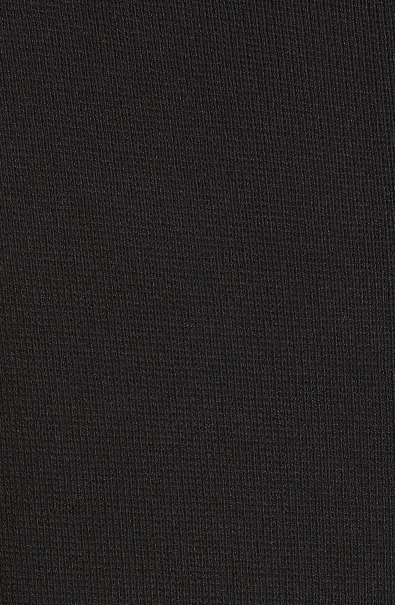 High Neck Fit & Flare Dress,                             Alternate thumbnail 6, color,                             Black
