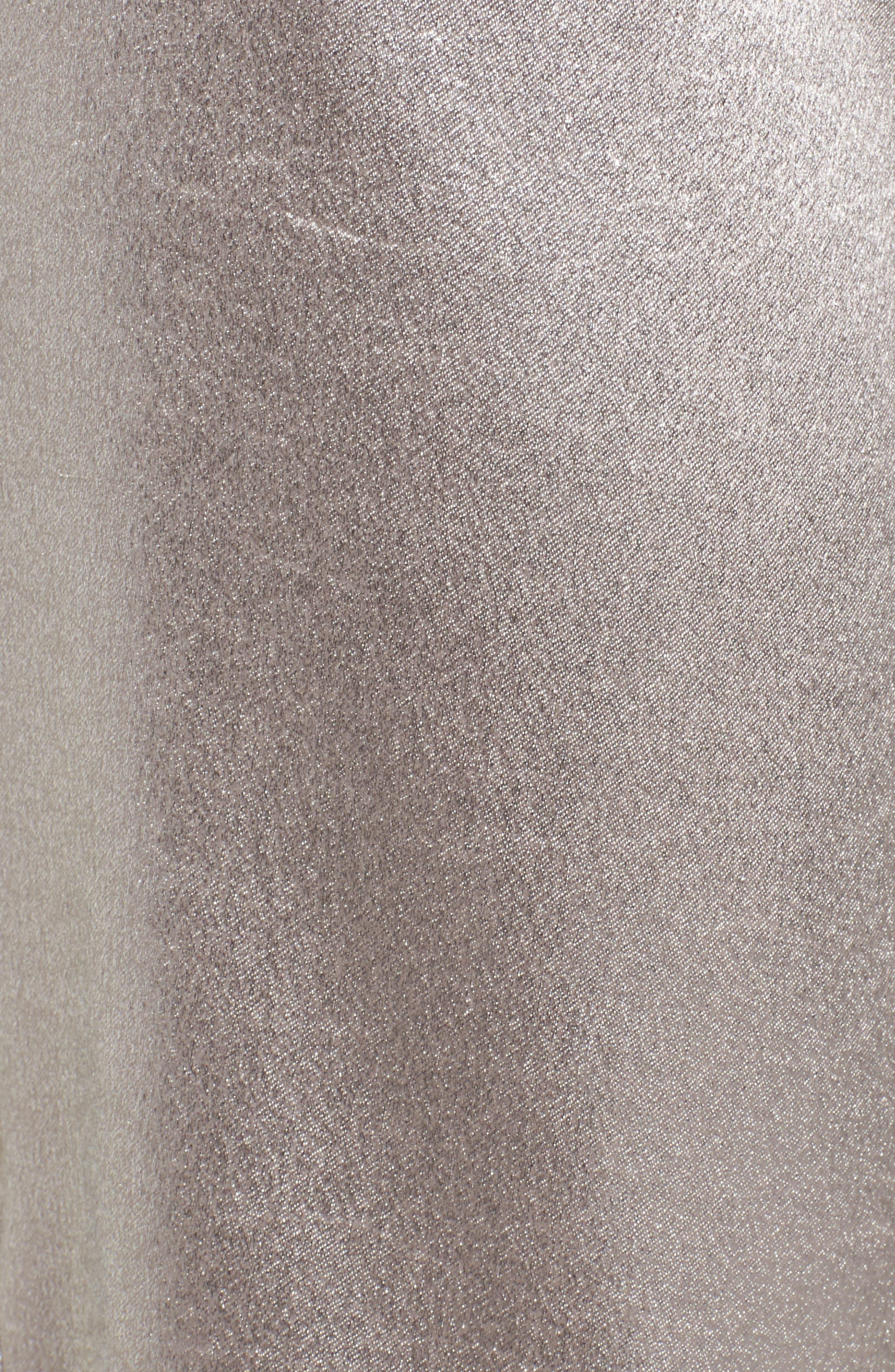 Ruffle Bustier Top,                             Alternate thumbnail 5, color,                             Grey Chateau Metallic