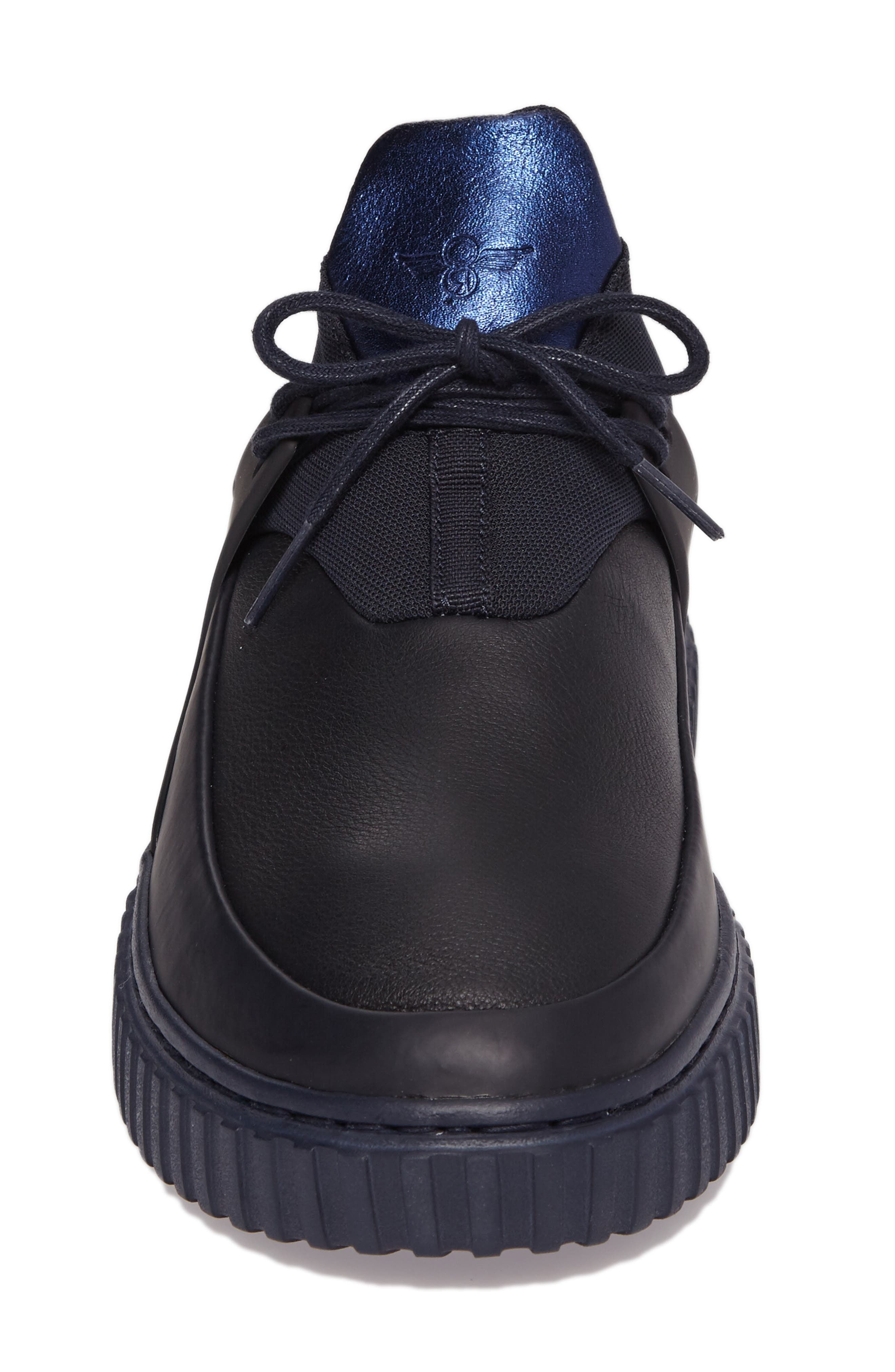 Castucci Mid Sneaker,                             Alternate thumbnail 4, color,                             Navy Leather