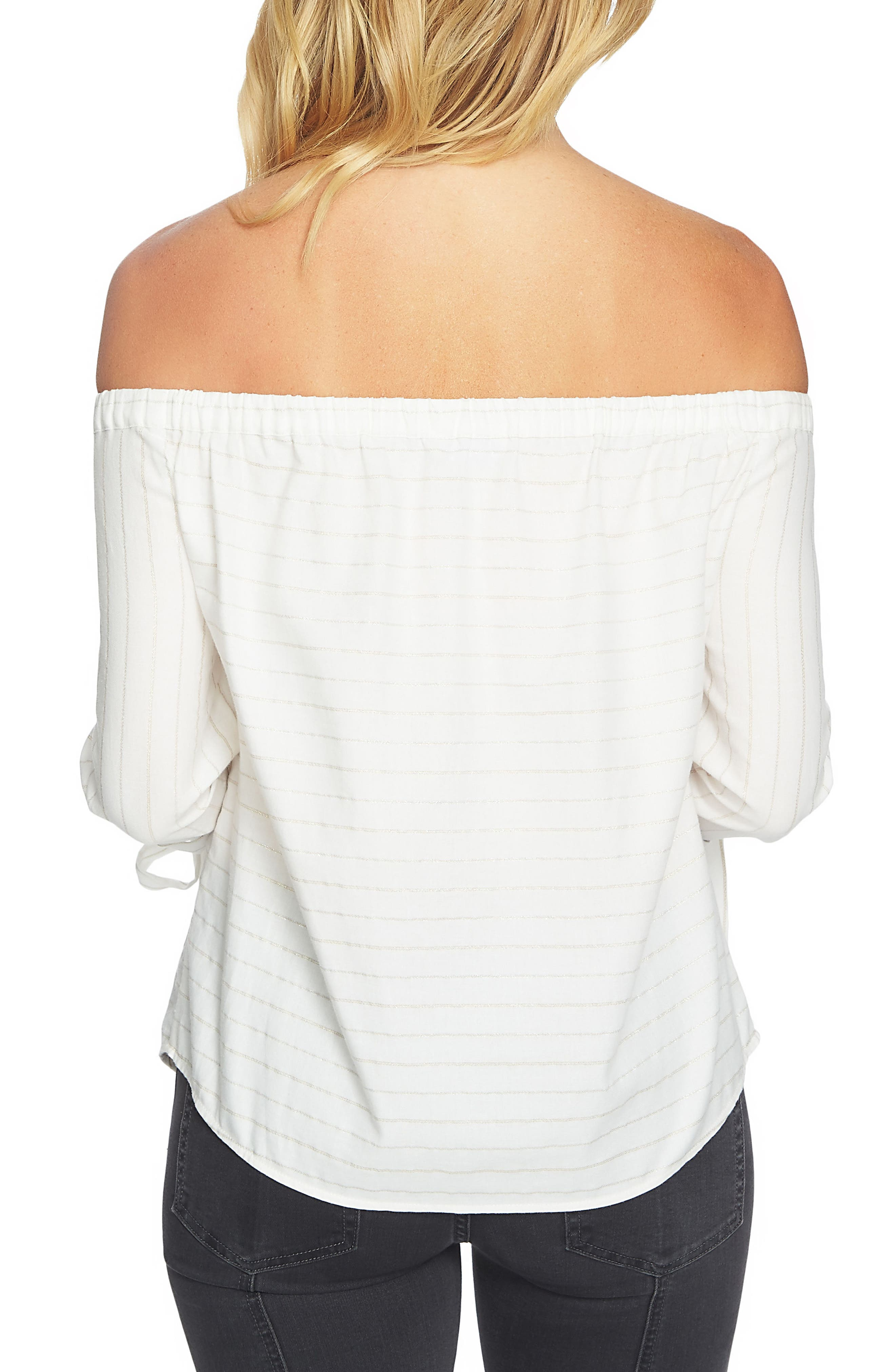 Off the Shoulder Top,                             Alternate thumbnail 2, color,                             Ultra White