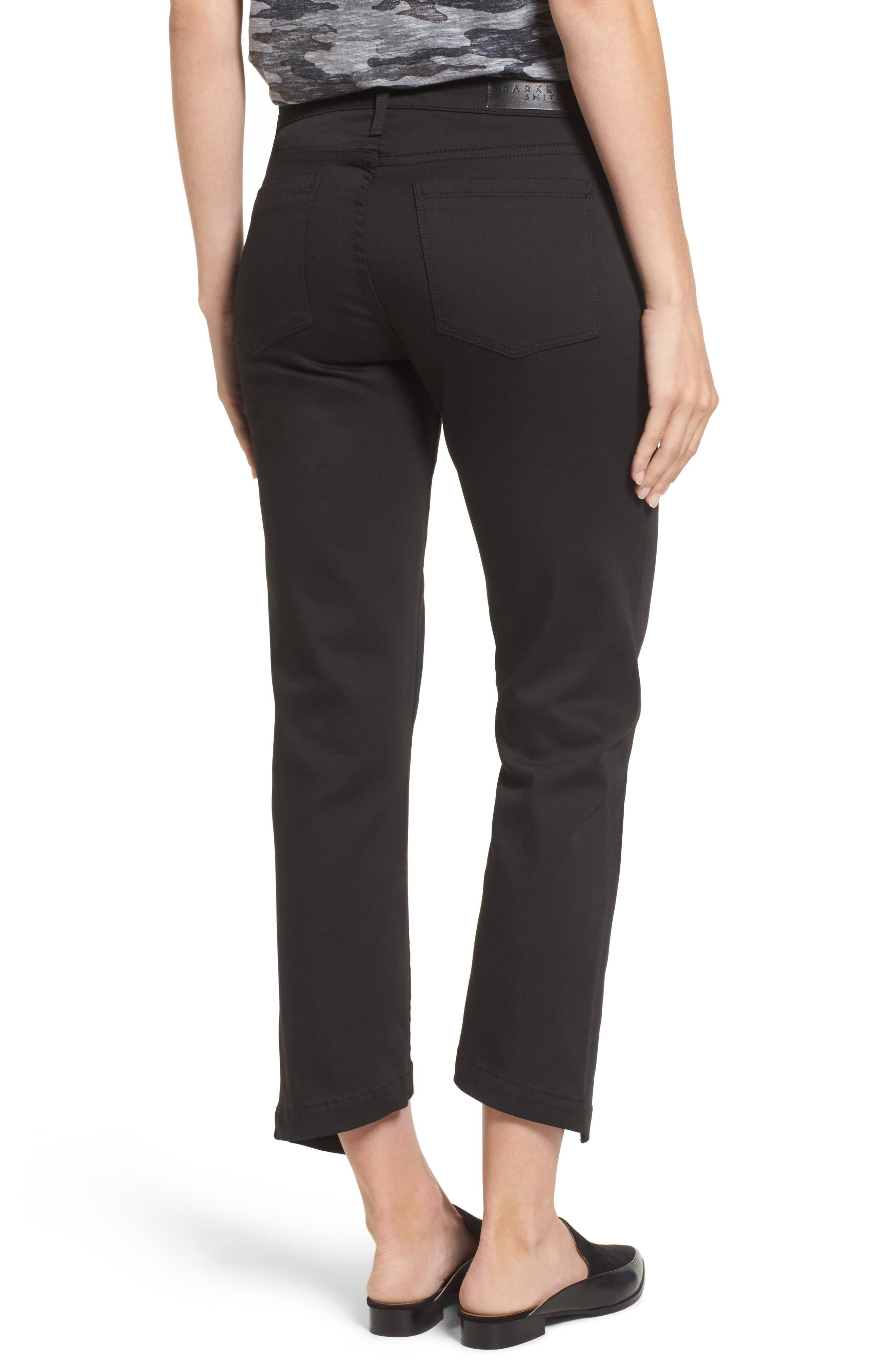 PARKER Novak Slit Hem Trouser Jeans,                             Alternate thumbnail 2, color,                             Eternal Black