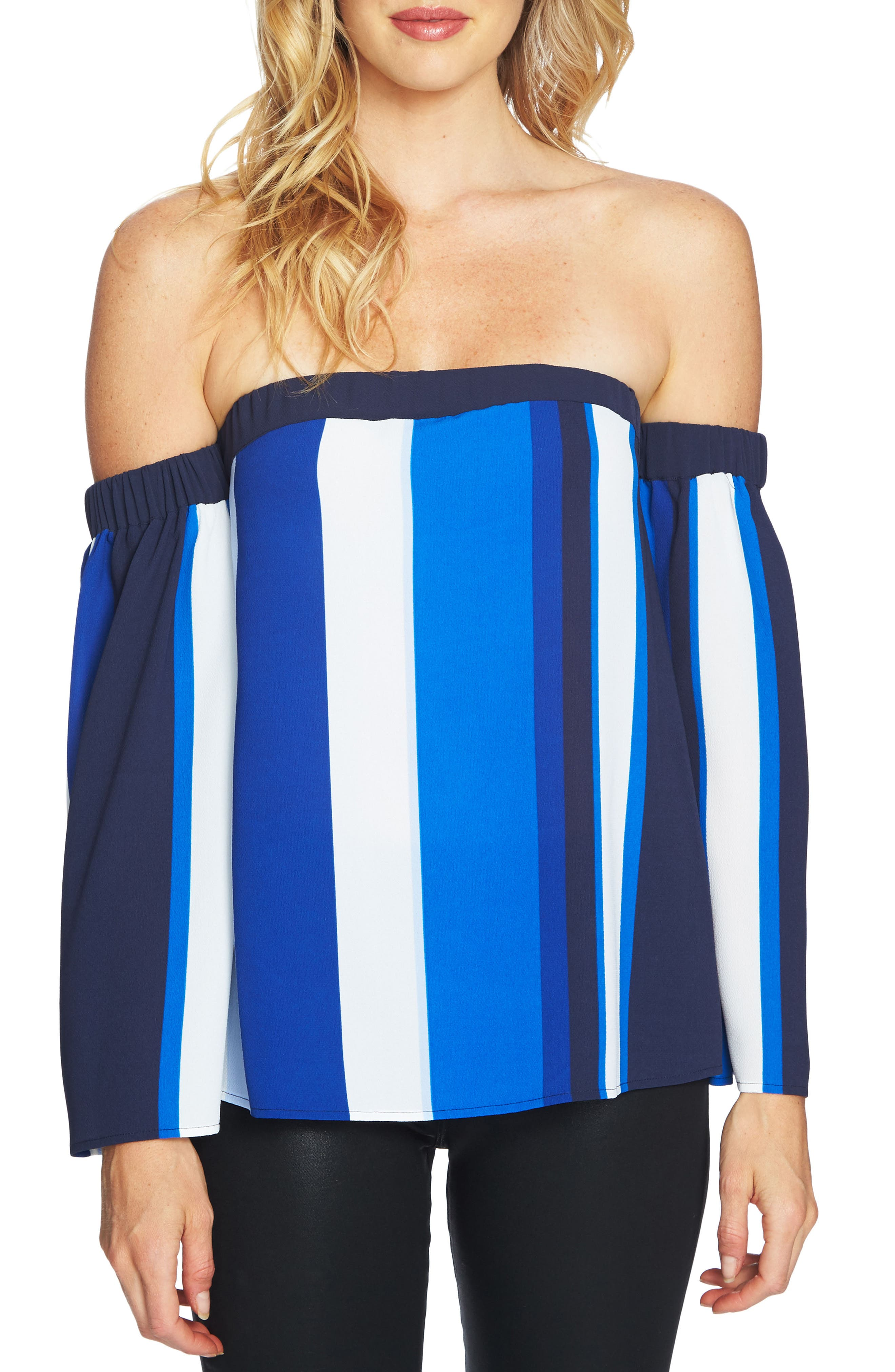 CeCe Escape Off the Shoulder Top