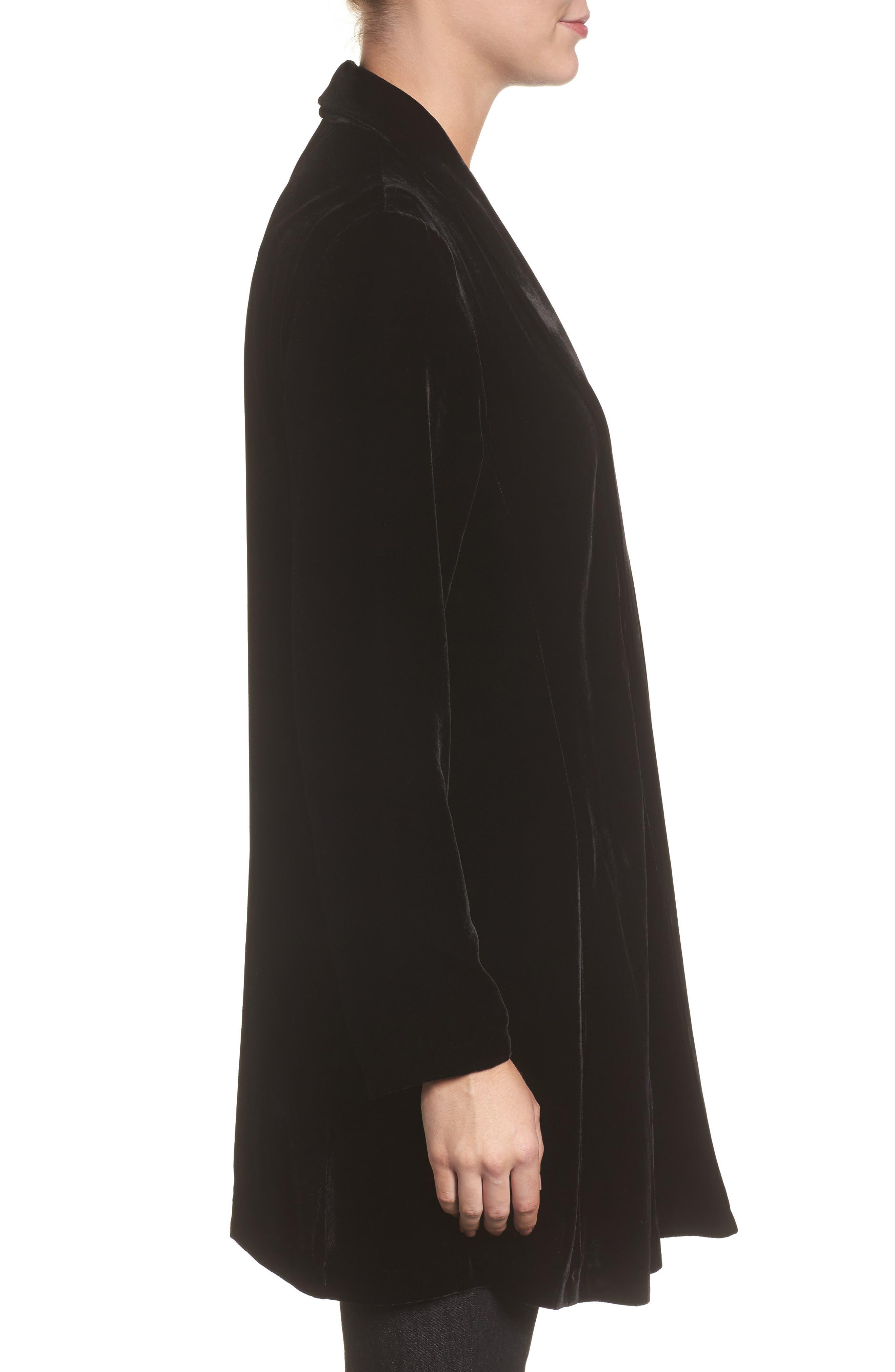 Alternate Image 3  - Eileen Fisher Shawl Collar Velvet Jacket (Regular & Petite)