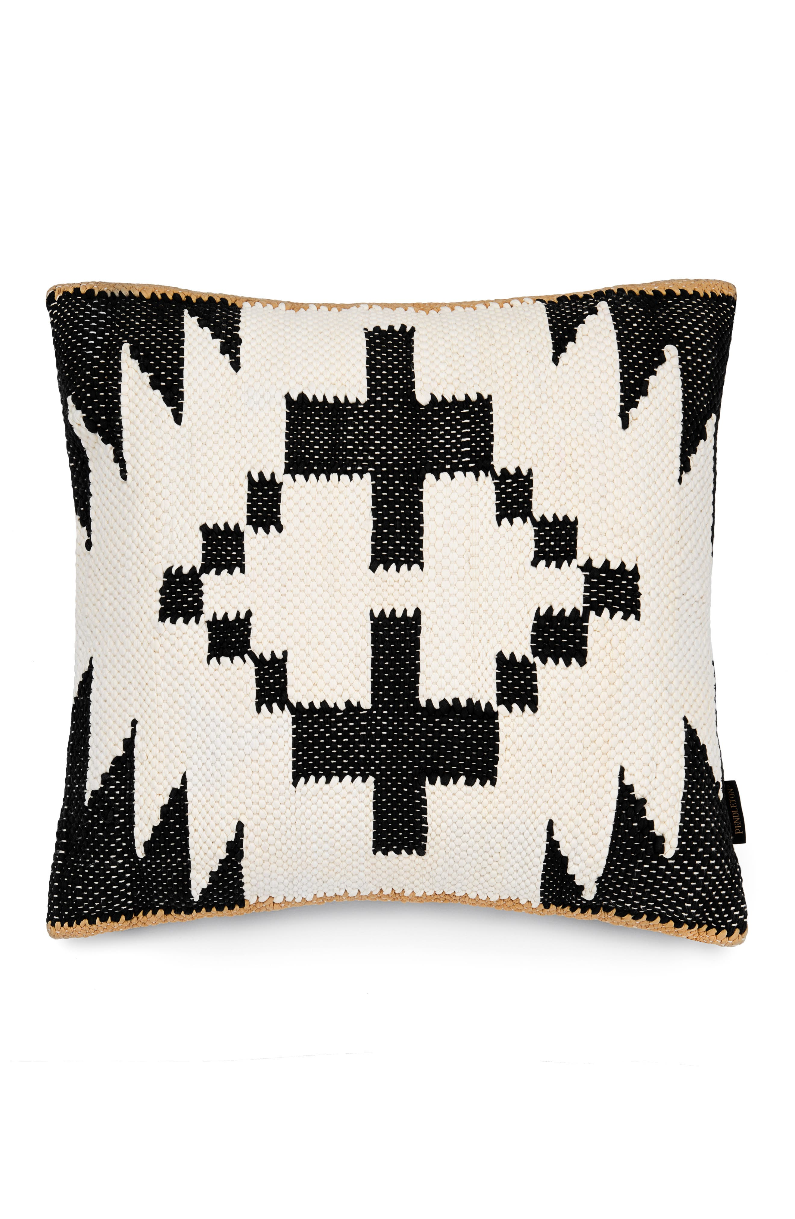 Spider Rock Chindi Oversize Accent Pillow,                             Main thumbnail 1, color,                             Spider Rock Black