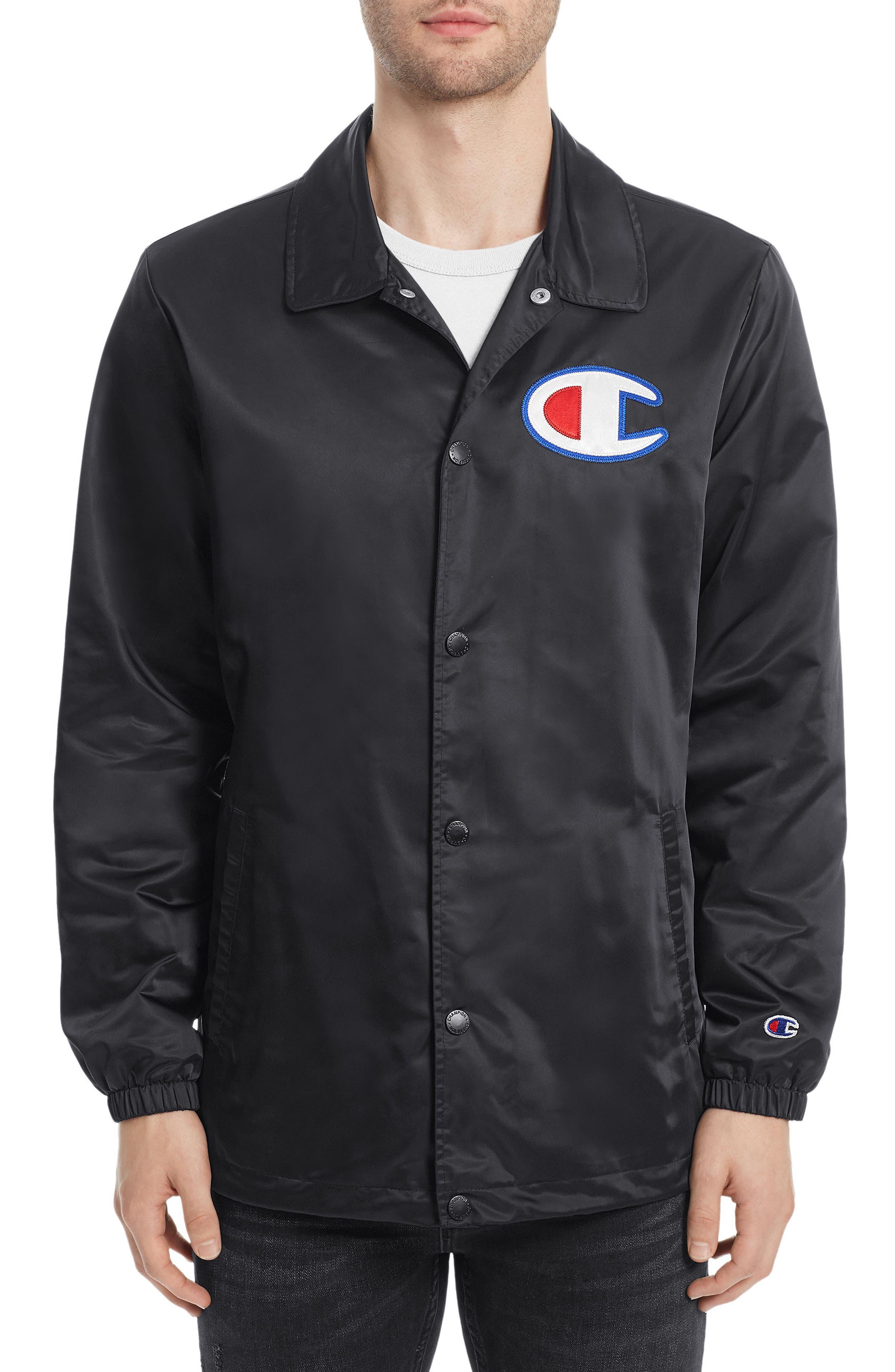 Coach's Jacket,                         Main,                         color, Black