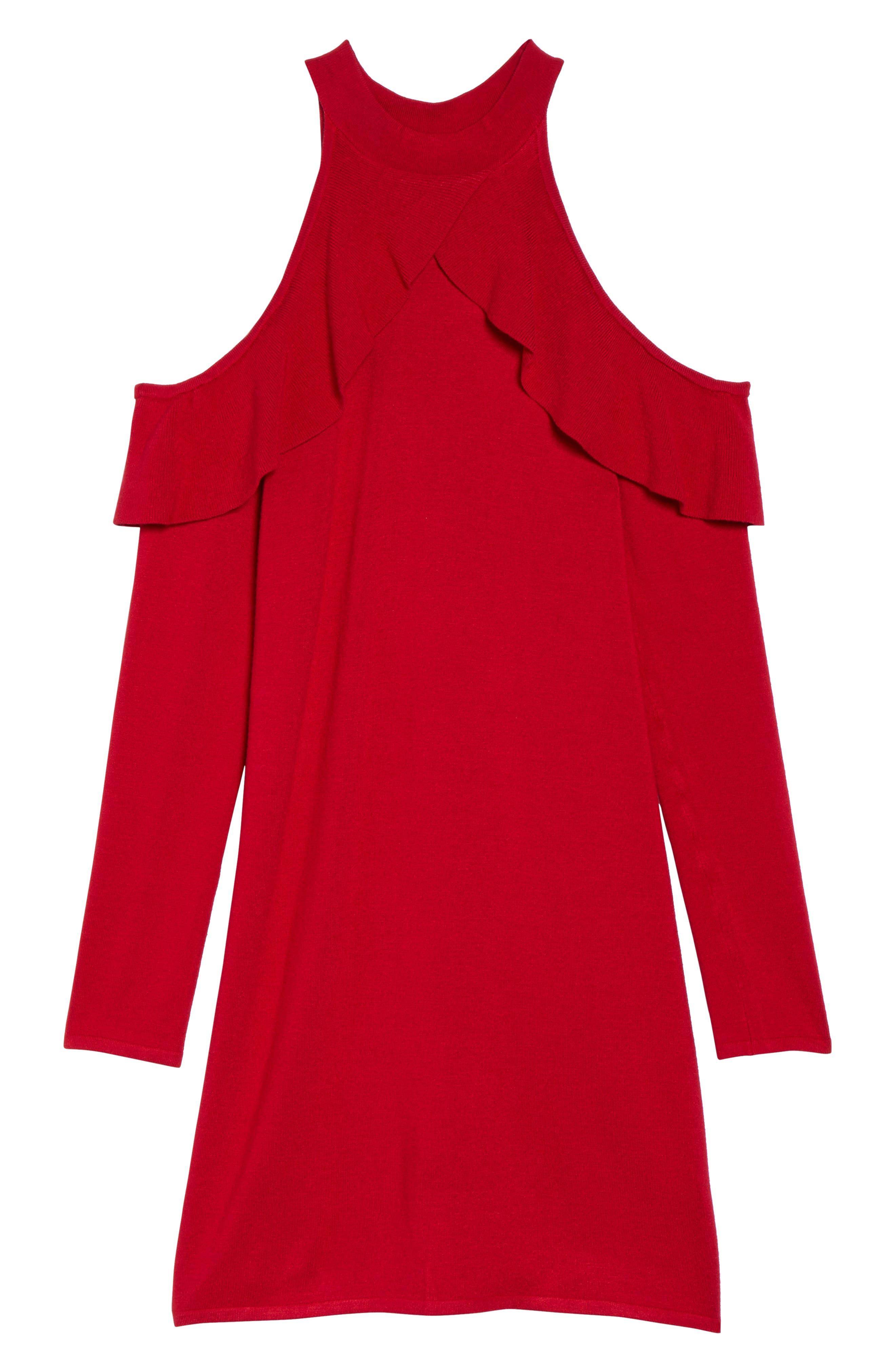 Alternate Image 6  - Ali & Jay Love At First Sight Cold Shoulder Dress