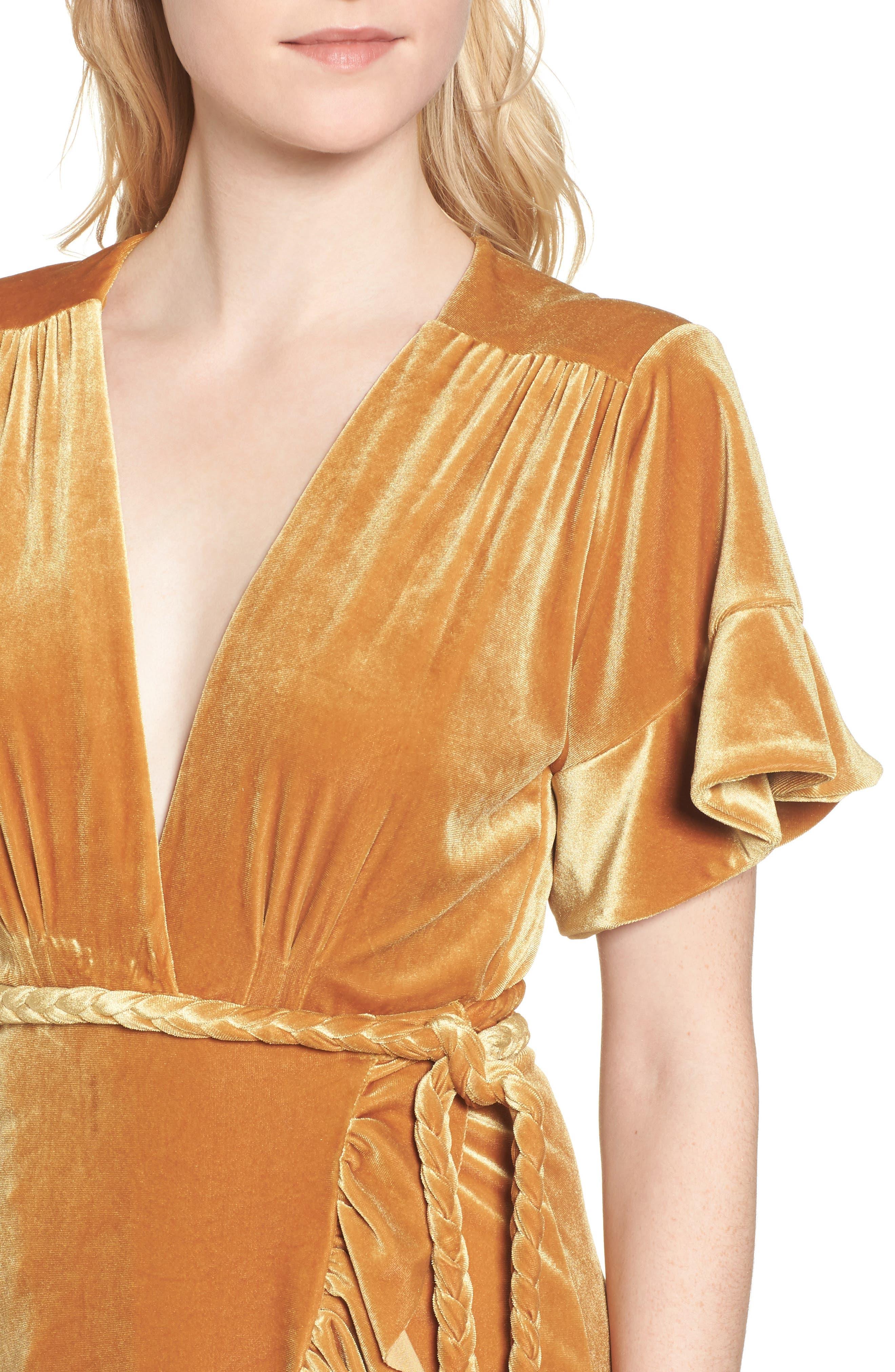 Alternate Image 4  - MISA Los Angeles Desma Velvet Wrap Minidress