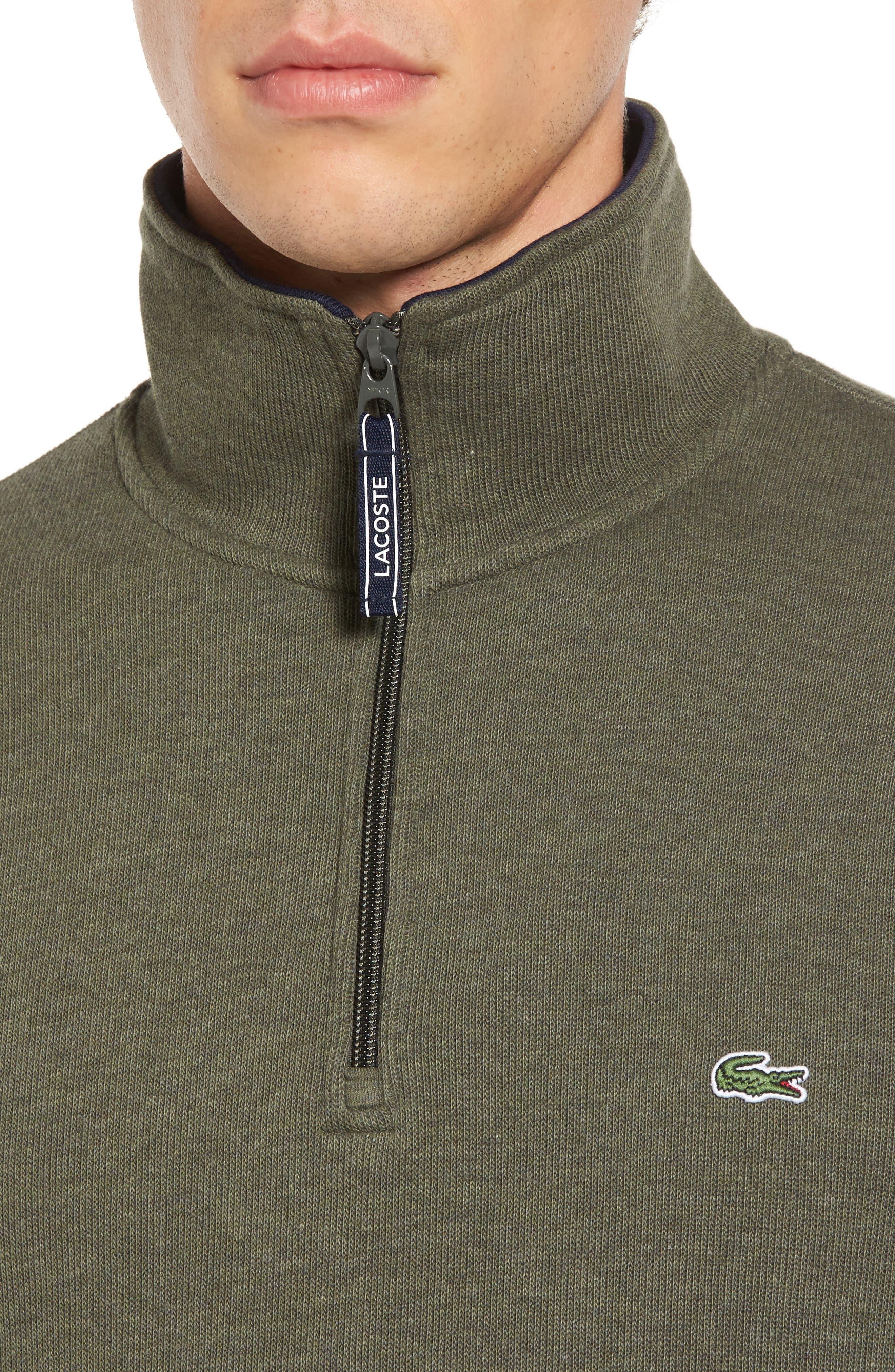Quarter Zip Sweatshirt,                             Alternate thumbnail 4, color,                             2Qh Army/ Navy Blue