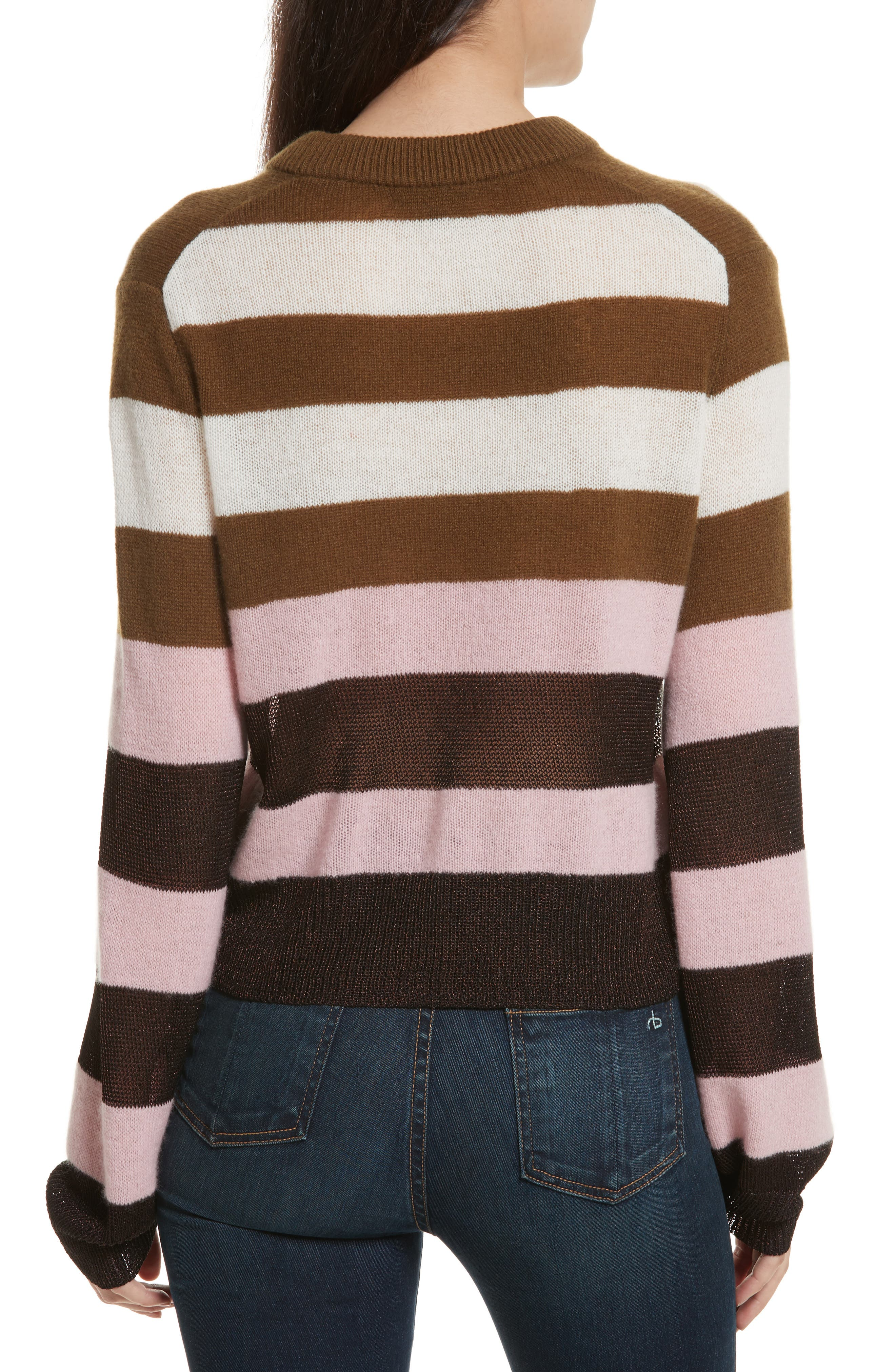 Annika Stripe Sweater,                             Alternate thumbnail 2, color,                             Pink Multi