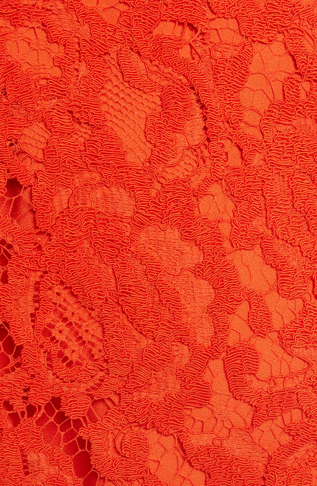Corded Lace Miniskirt,                             Alternate thumbnail 4, color,                             Coral