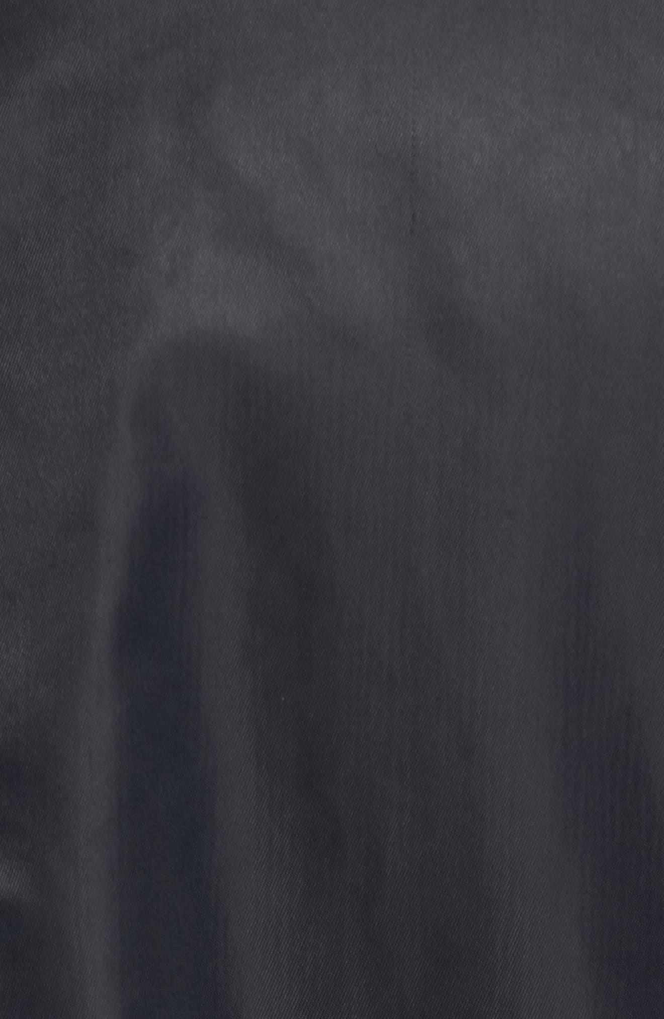 NSW Air Max Woven Bomber Jacket,                             Alternate thumbnail 6, color,                             Black/ Black