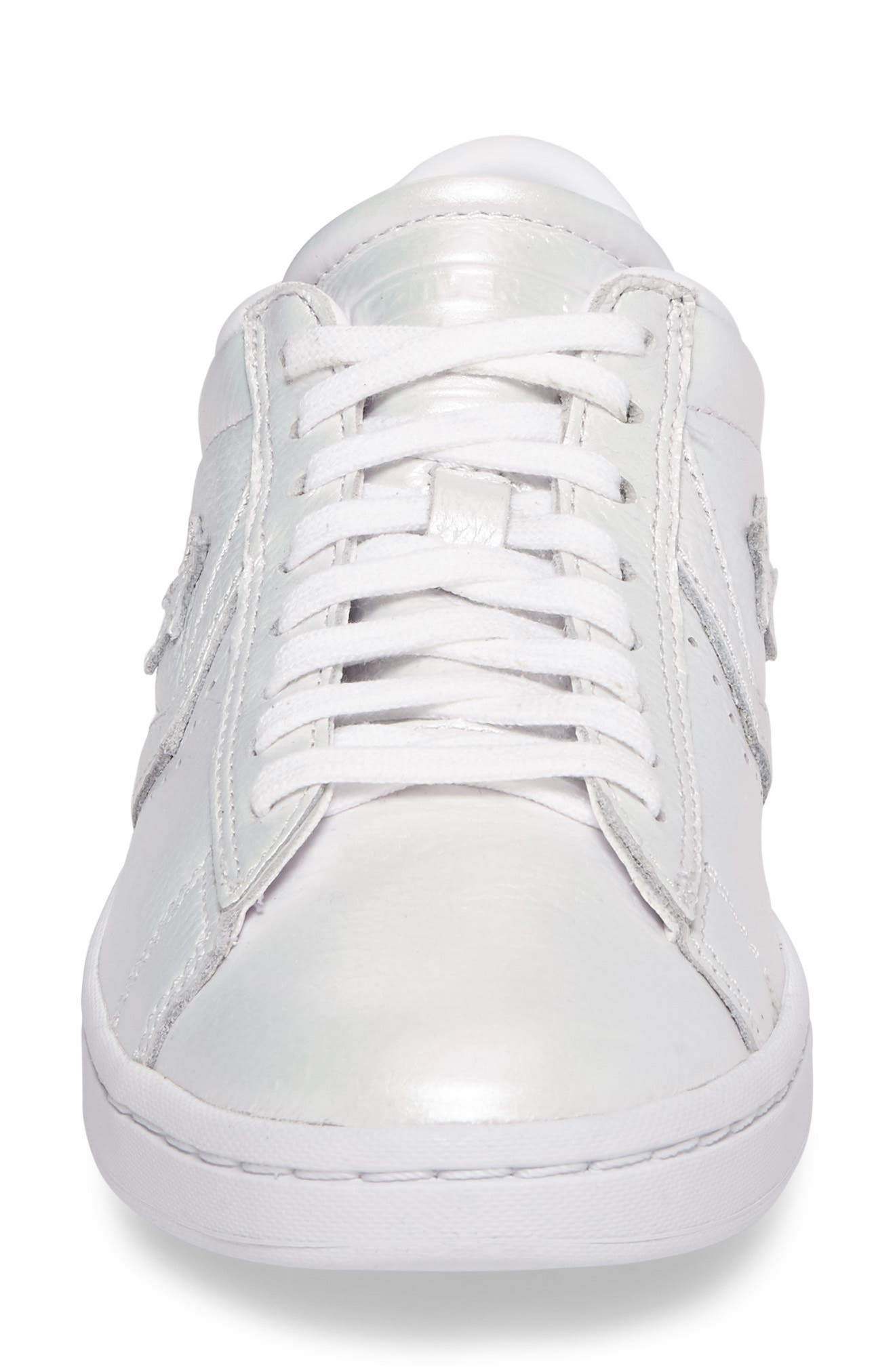 Pro Leather LP Sneaker,                             Alternate thumbnail 4, color,                             White Leather