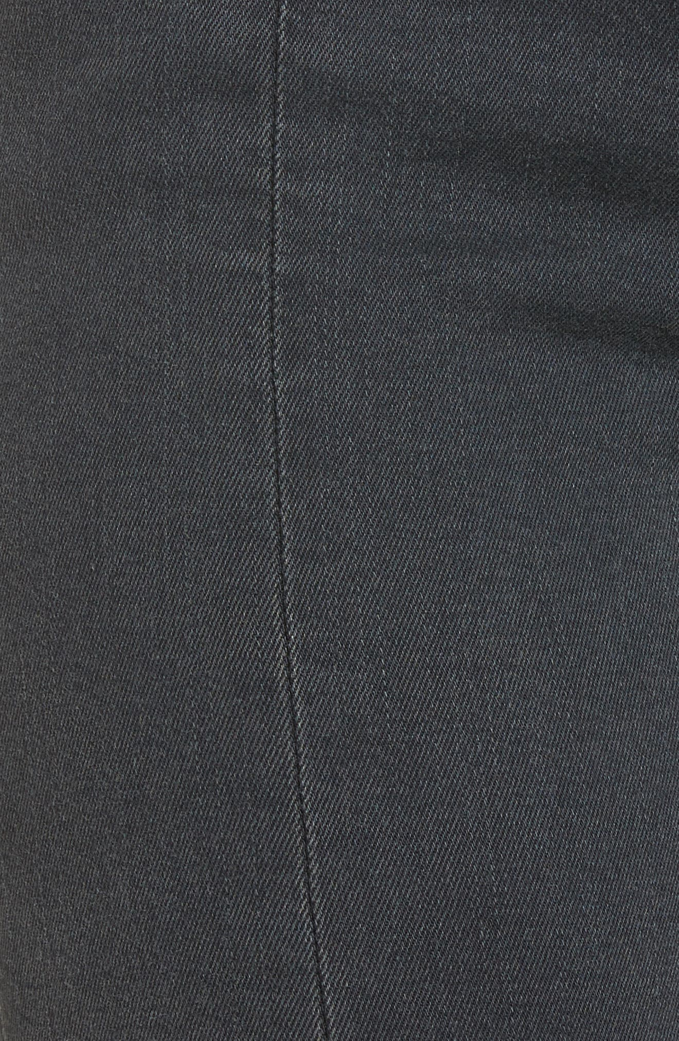 Jagger Front Seam Skinny Jeans,                             Alternate thumbnail 5, color,                             Washed Black