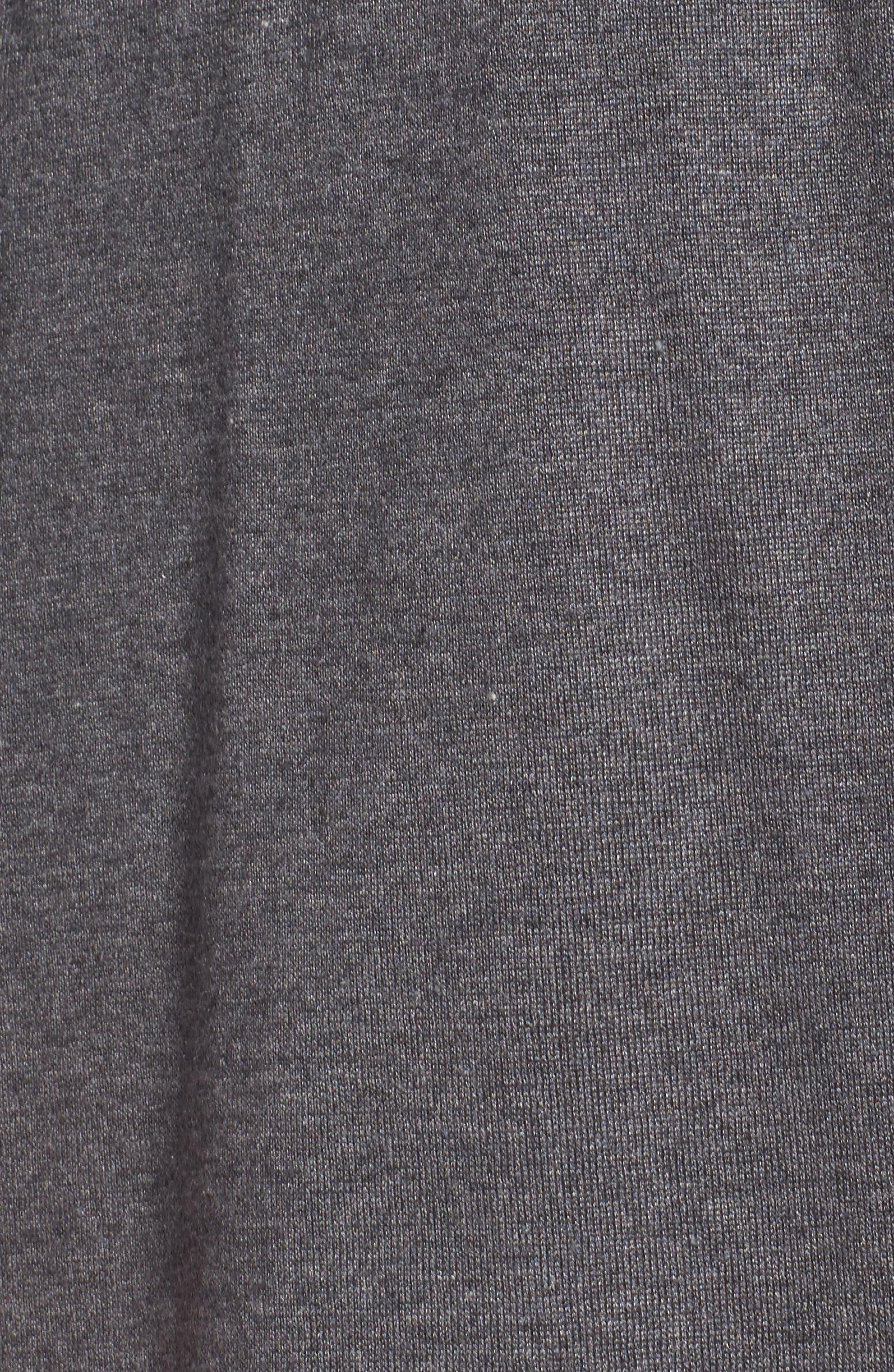 Tie Waist Tencel<sup>®</sup> Blend Cardigan,                             Alternate thumbnail 5, color,                             Ash